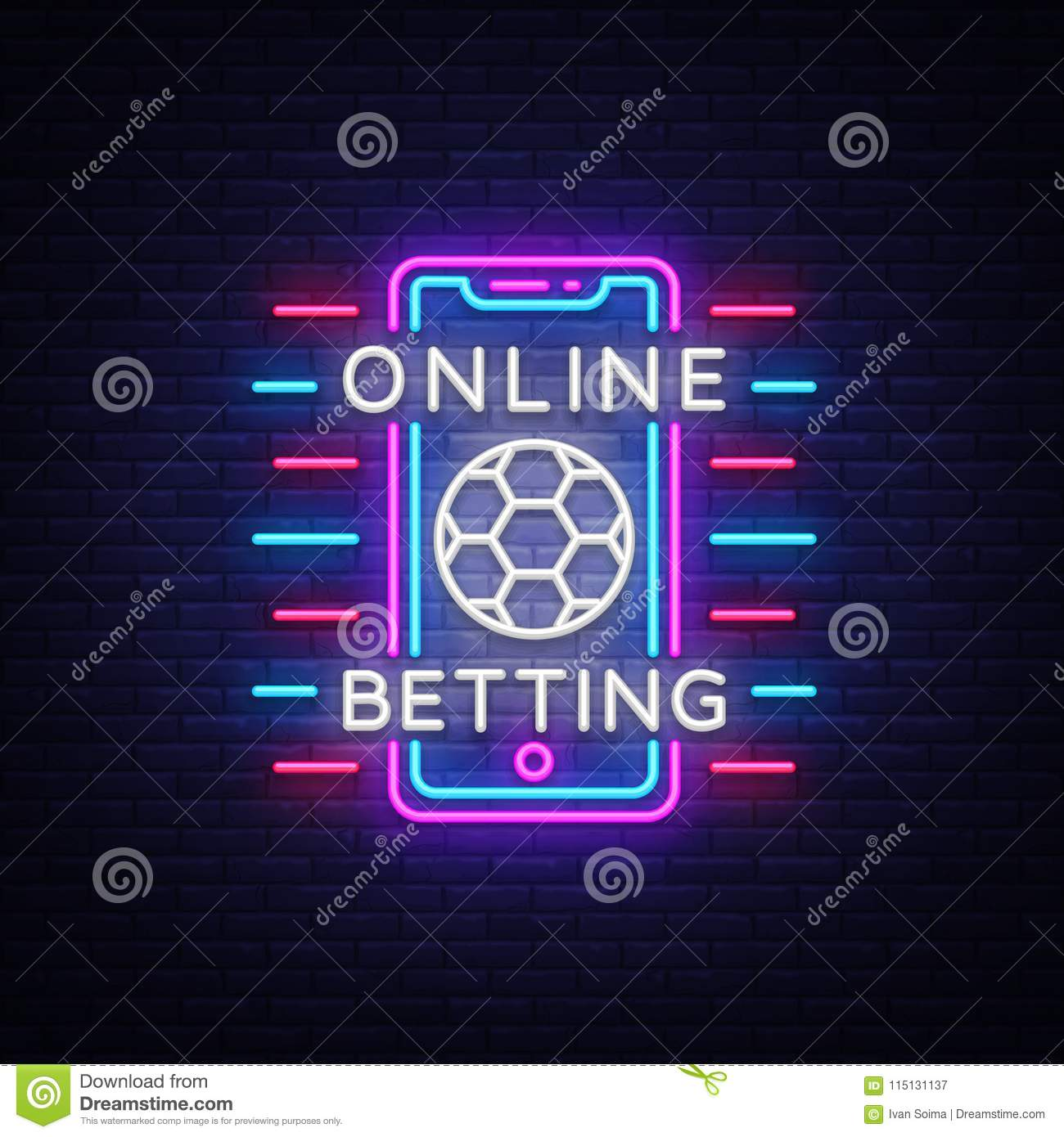 Online Betting Neon Si...