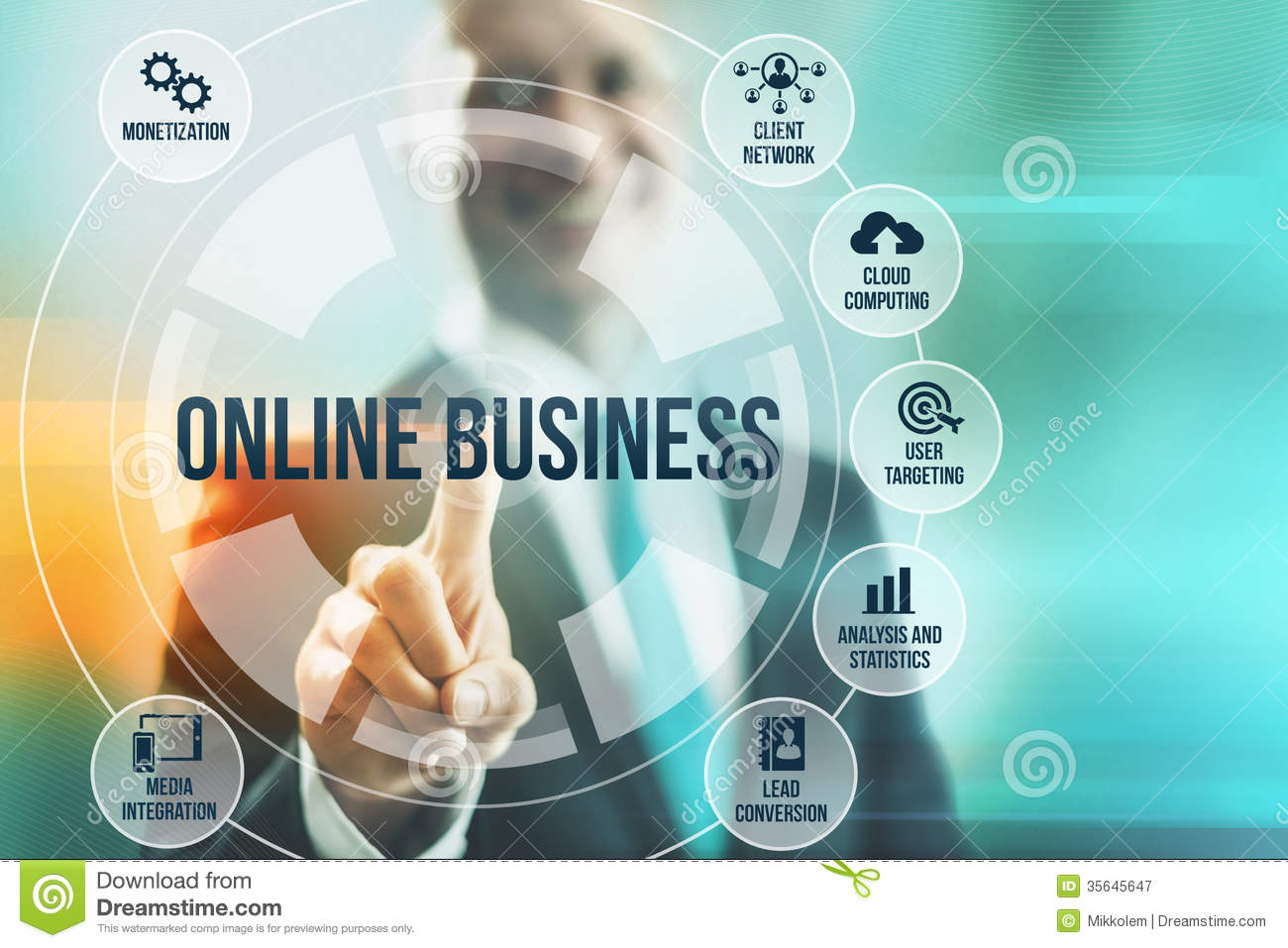 Online business stock illustration. Illustration of ...
