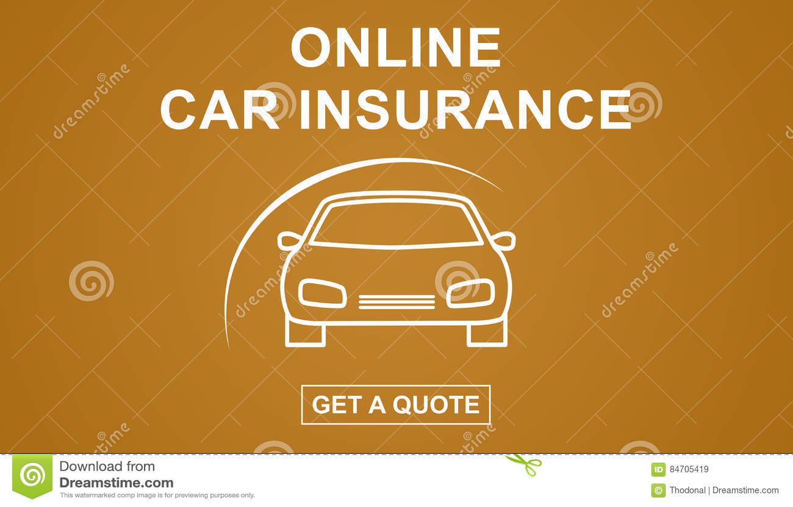 Online Car Insurance >> Online Car Insurance Concept Stock Illustration
