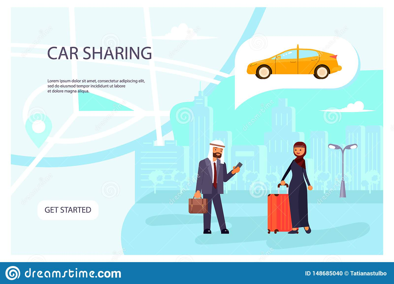 Online Car sharing service page website