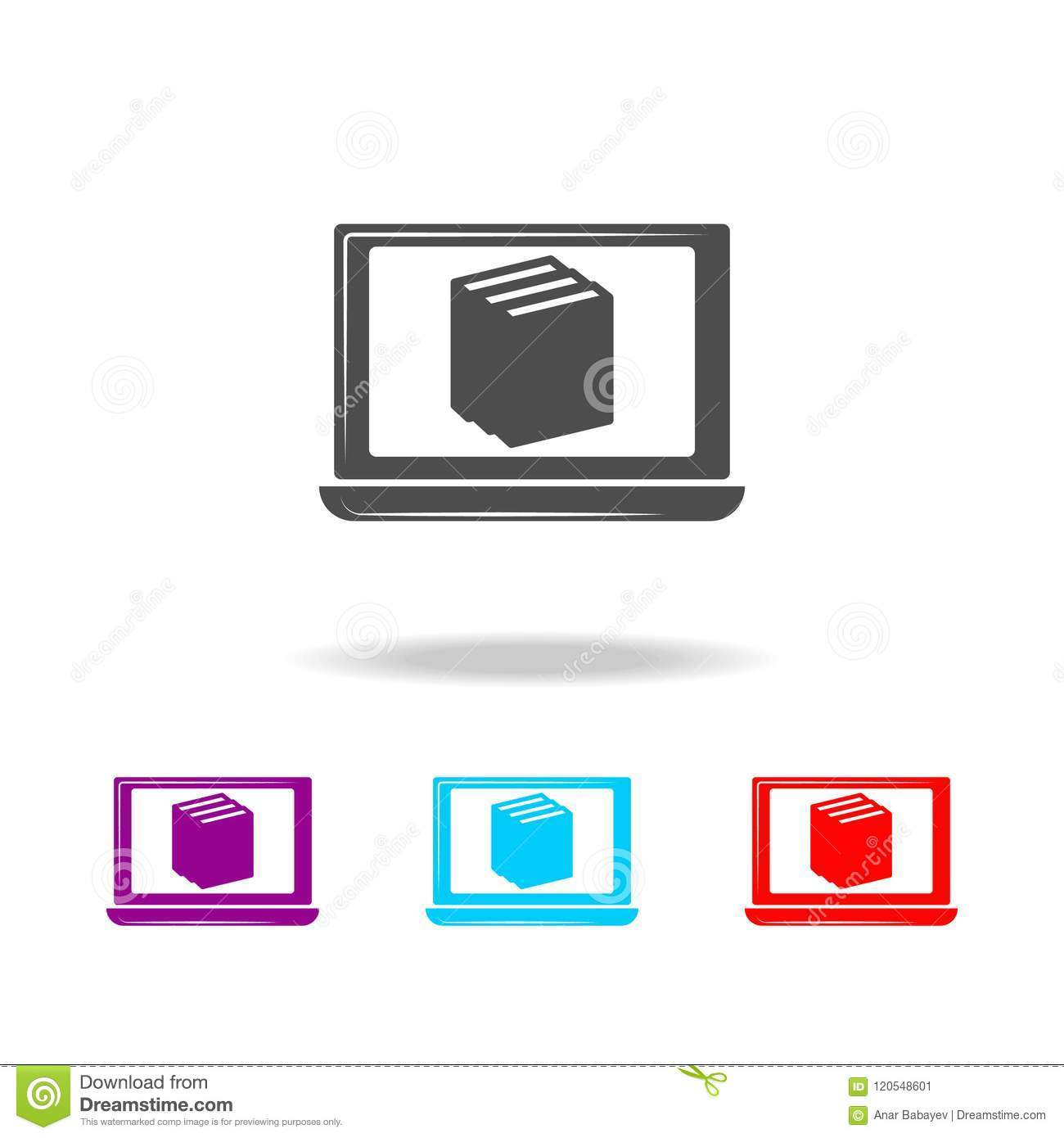 Online Certification Icon Elements Of Education In Multi Colored