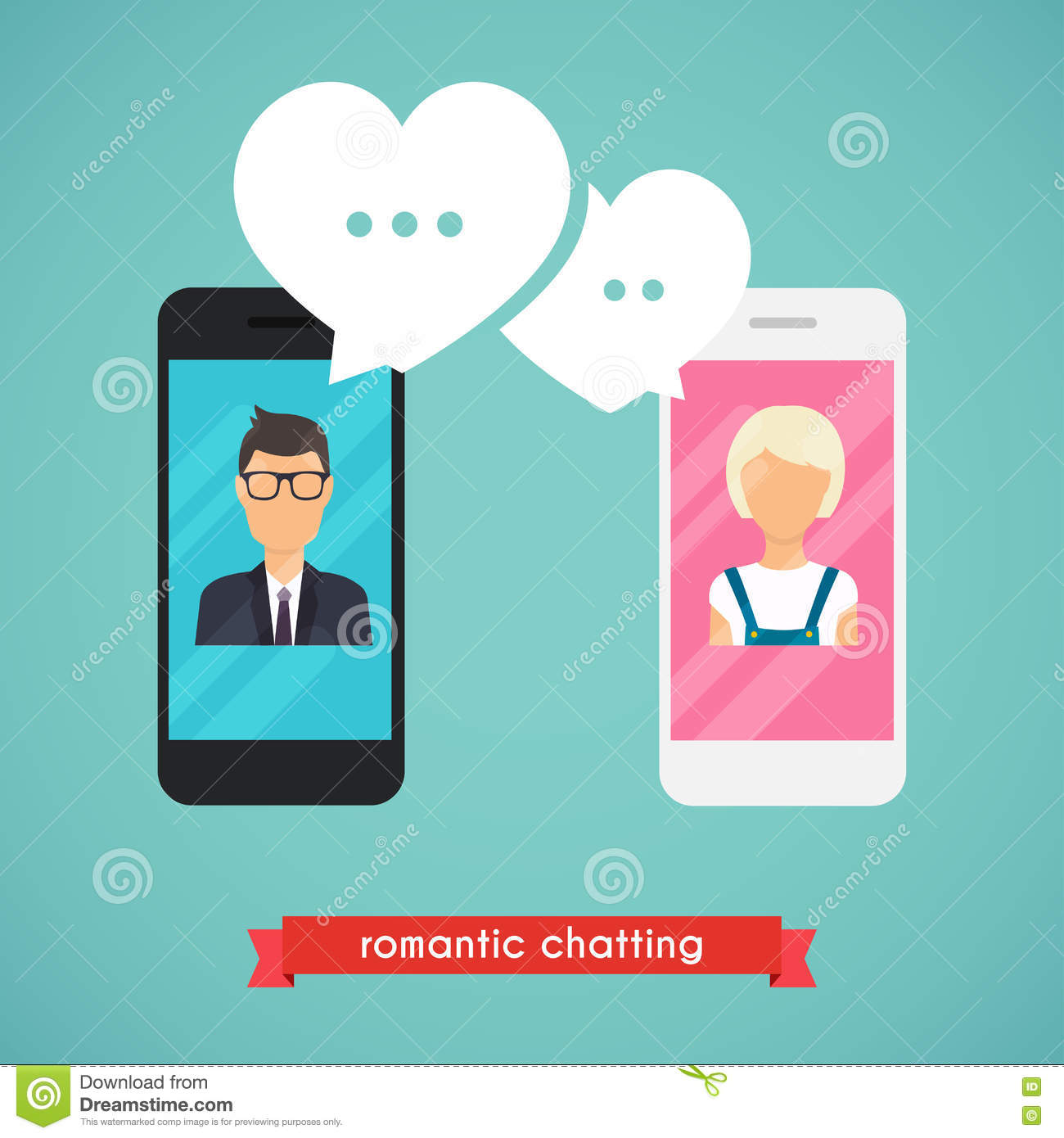 Online dating with chat