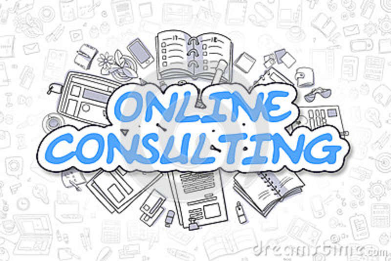 Online Consulting - Doodle Blue Word  Business Concept