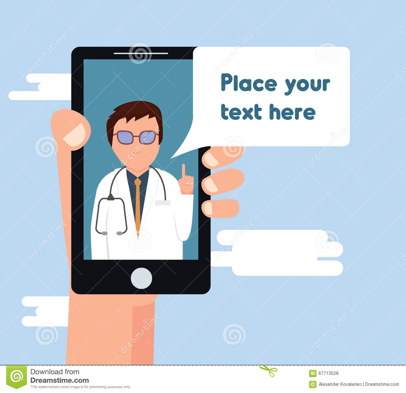 Online Doctor Consultation Vector Illustration. Stock Vector ...
