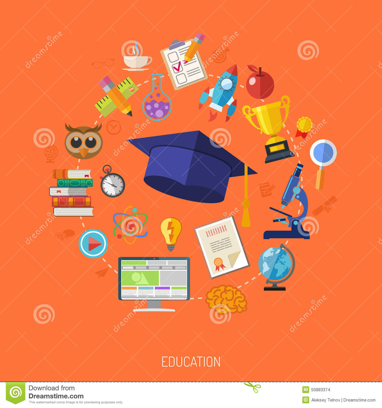 E learning poster designs - Online Education Concept