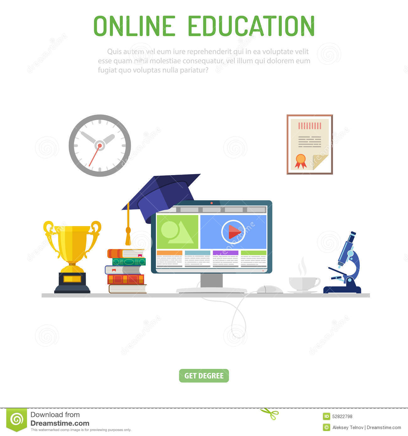 Online Education Concept Stock Vector - Image: 52822798