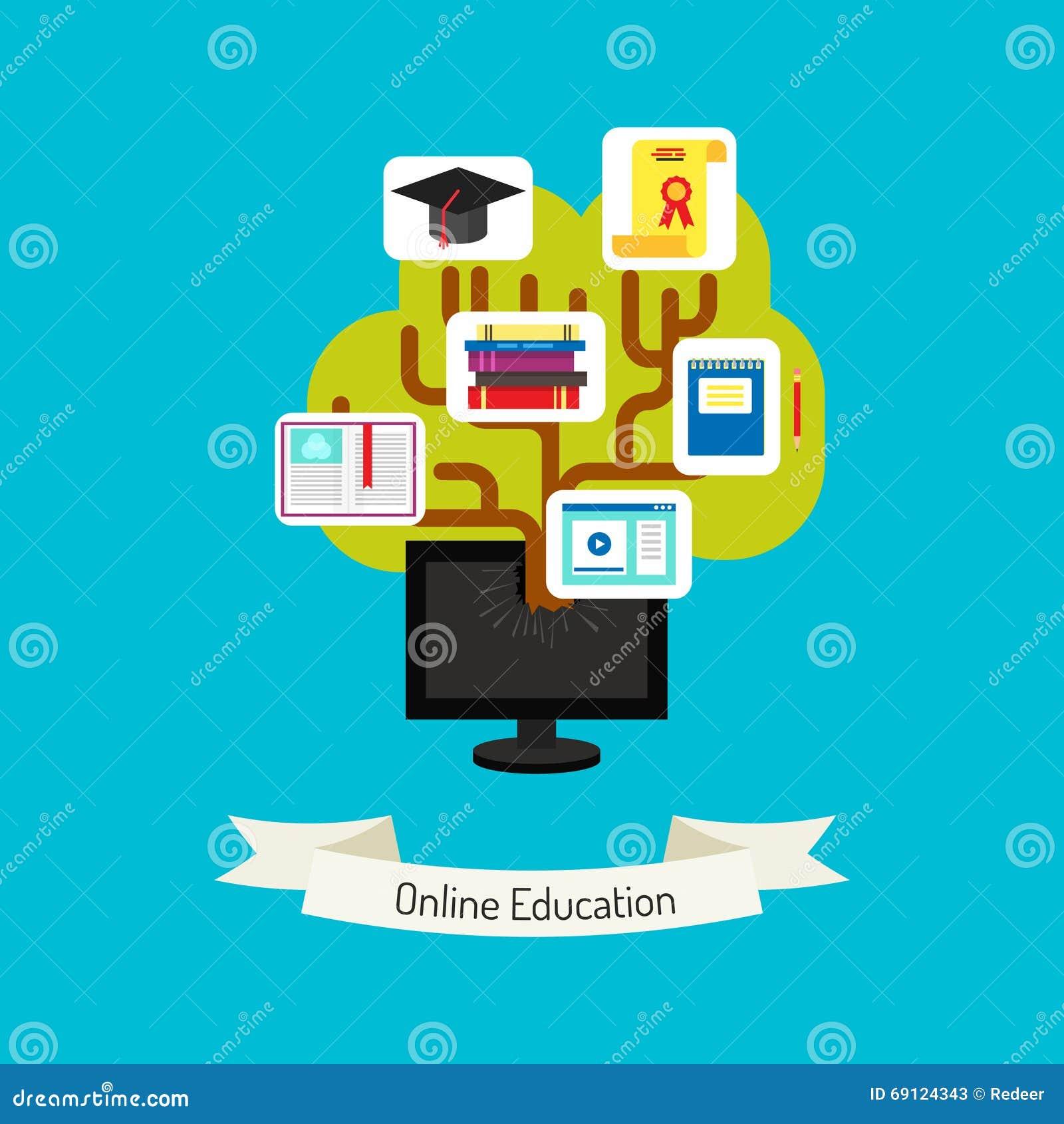 Online Education Concept Illustration. Stock Illustration ...