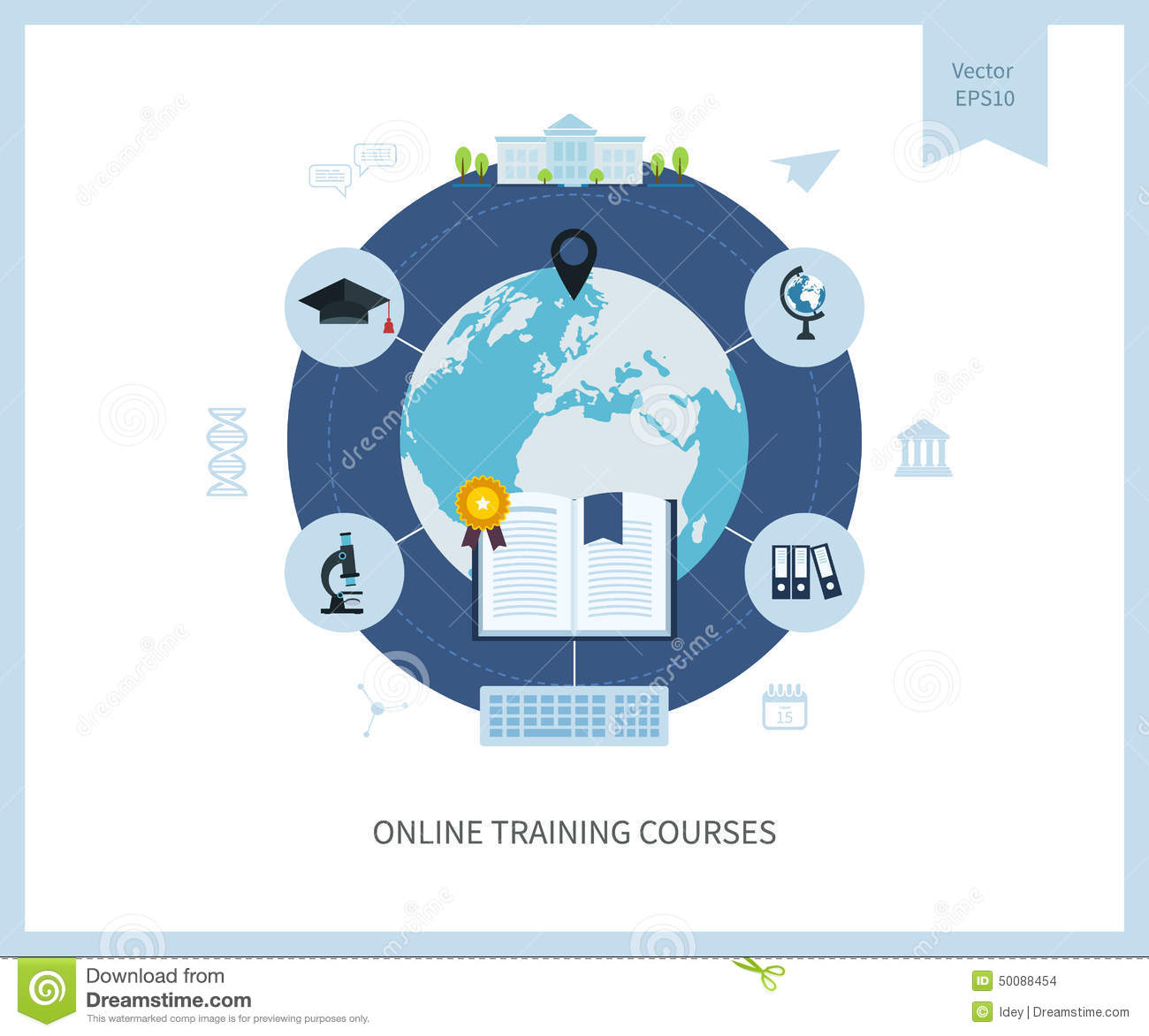 Illustration online psychology class college credit