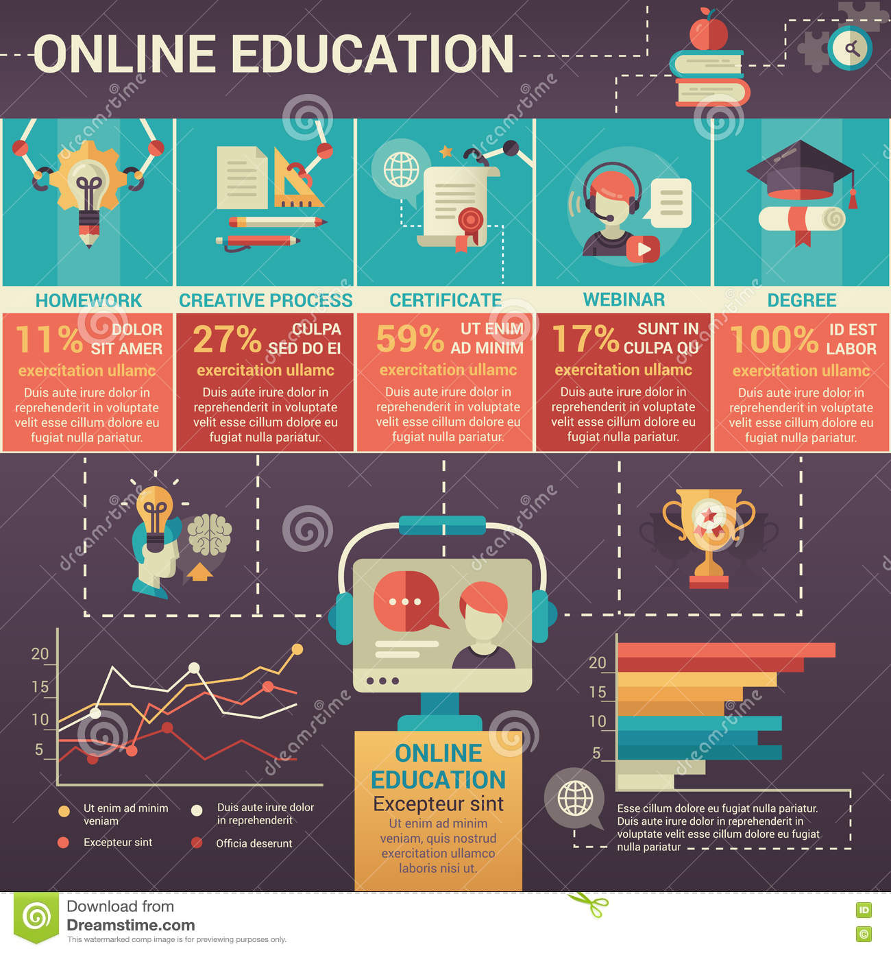 Poster design education - Design Education Flat Modern Online Poster