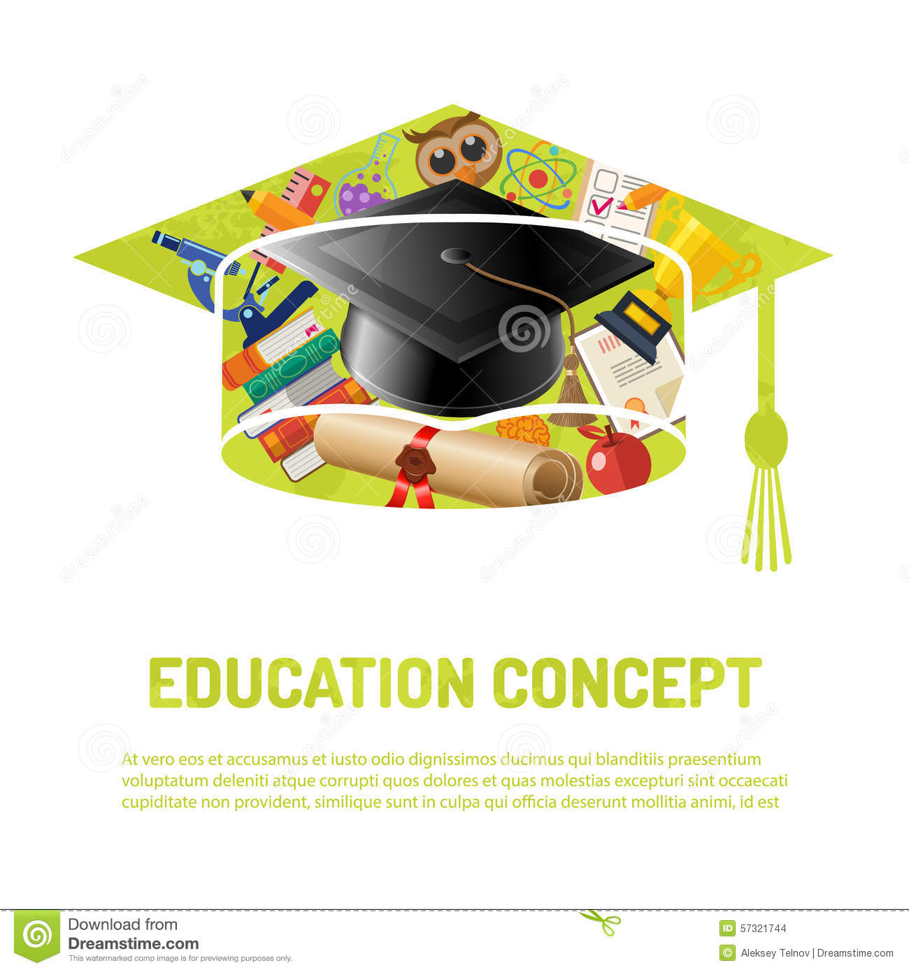 Online Education Poster Stock Vector - Image: 57321744