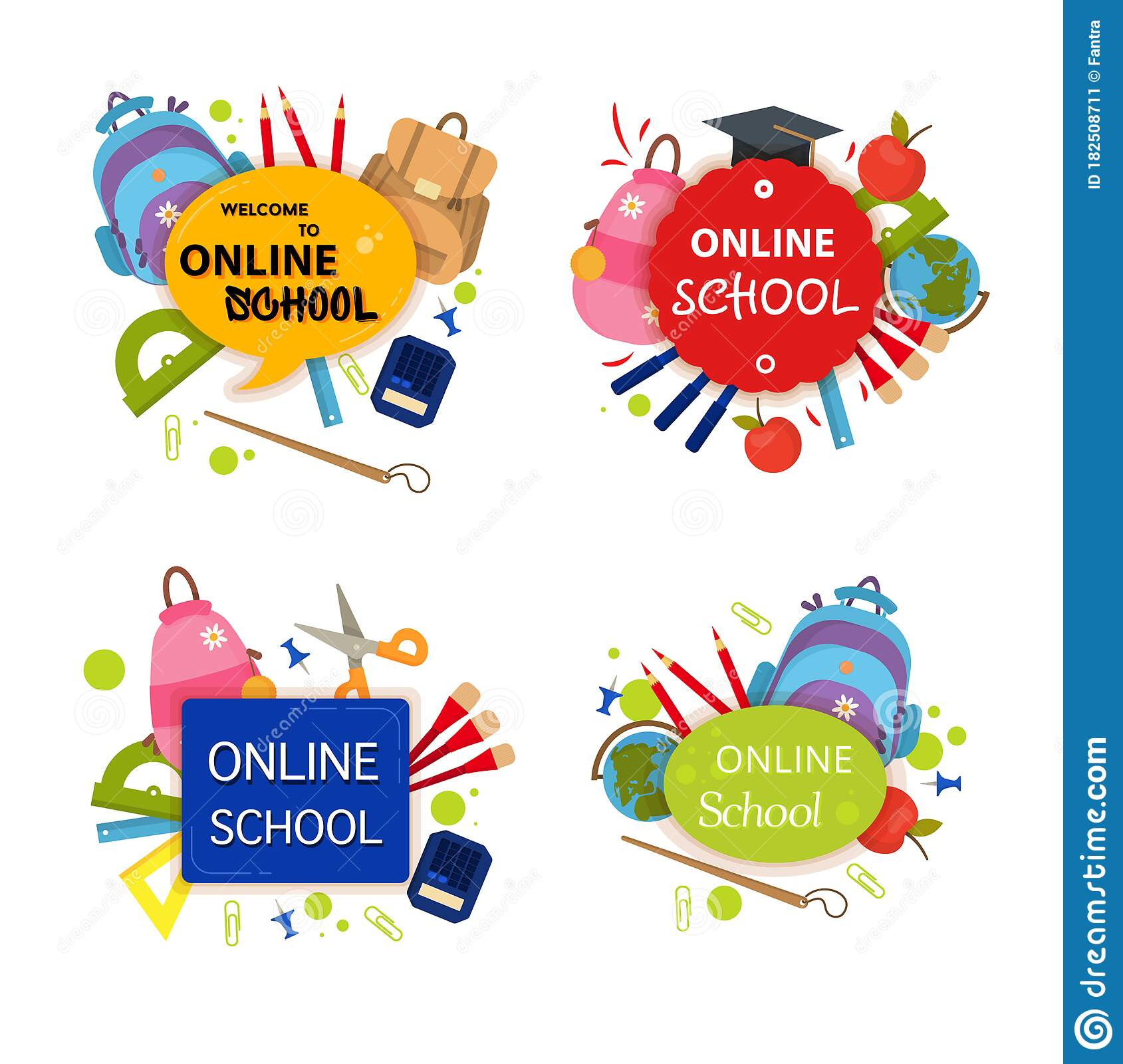 Online School Education Course Stock Vector Illustration Of Course Banner 182508711