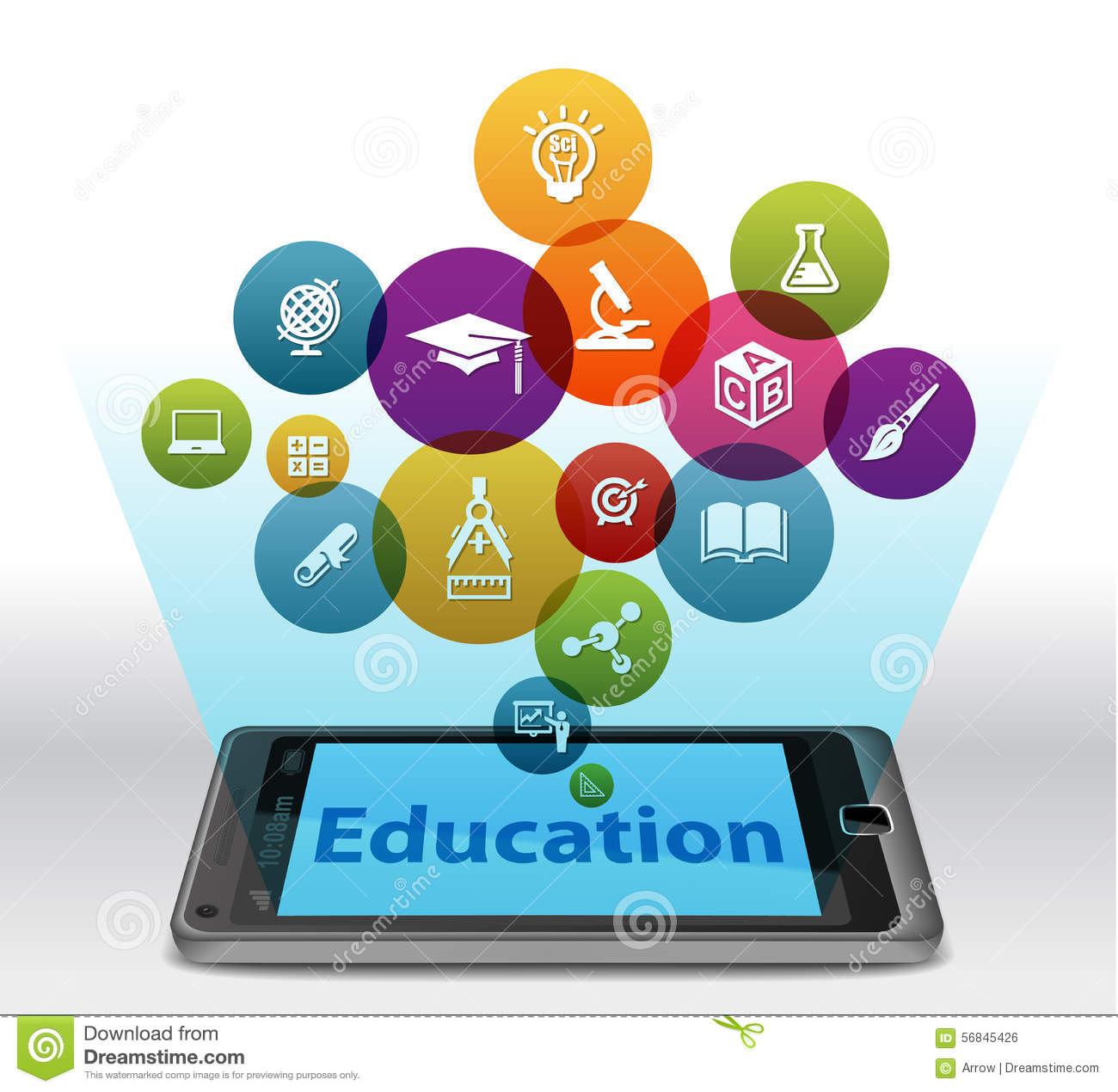 Online Education On Smartphone Stock Illustration Image