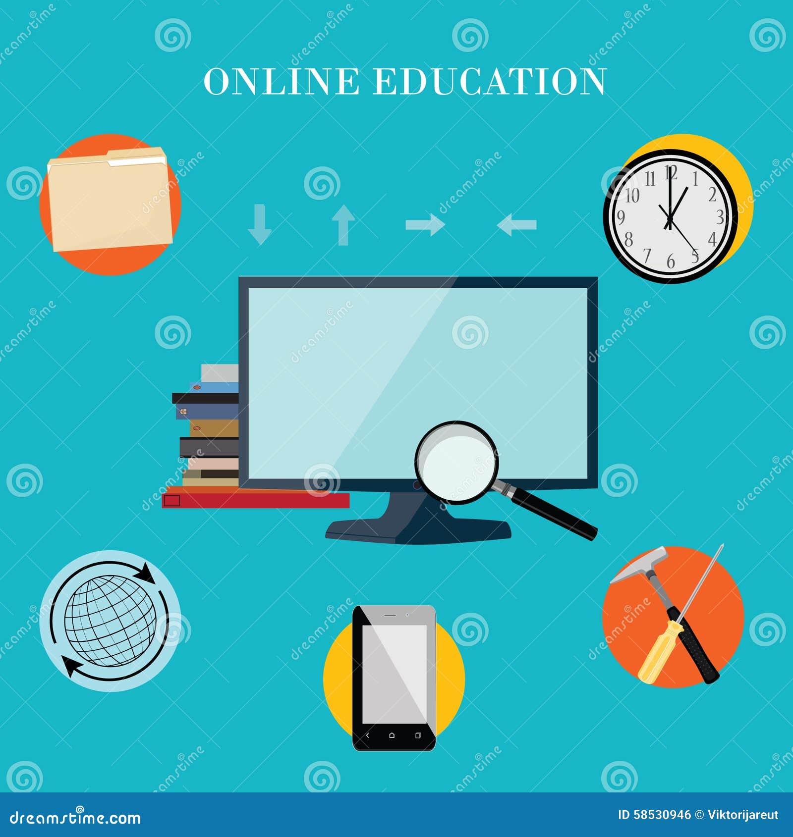 online education. Online training. Online learning. E-learning ...