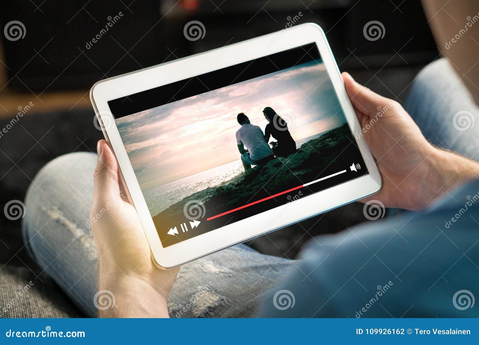 Online filmstroom met mobiel apparaat