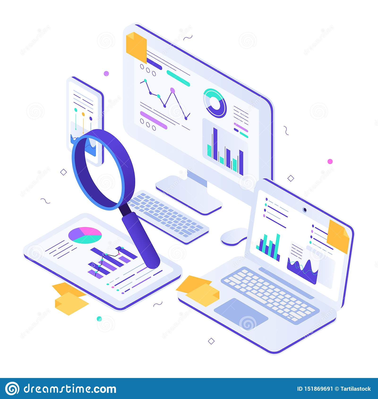 Online Financial Audit  Isometric Website Metrics