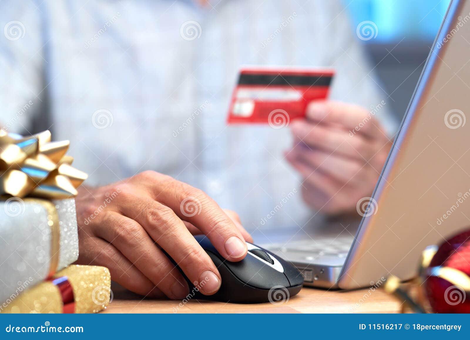 Online internet Christmas shopping concept