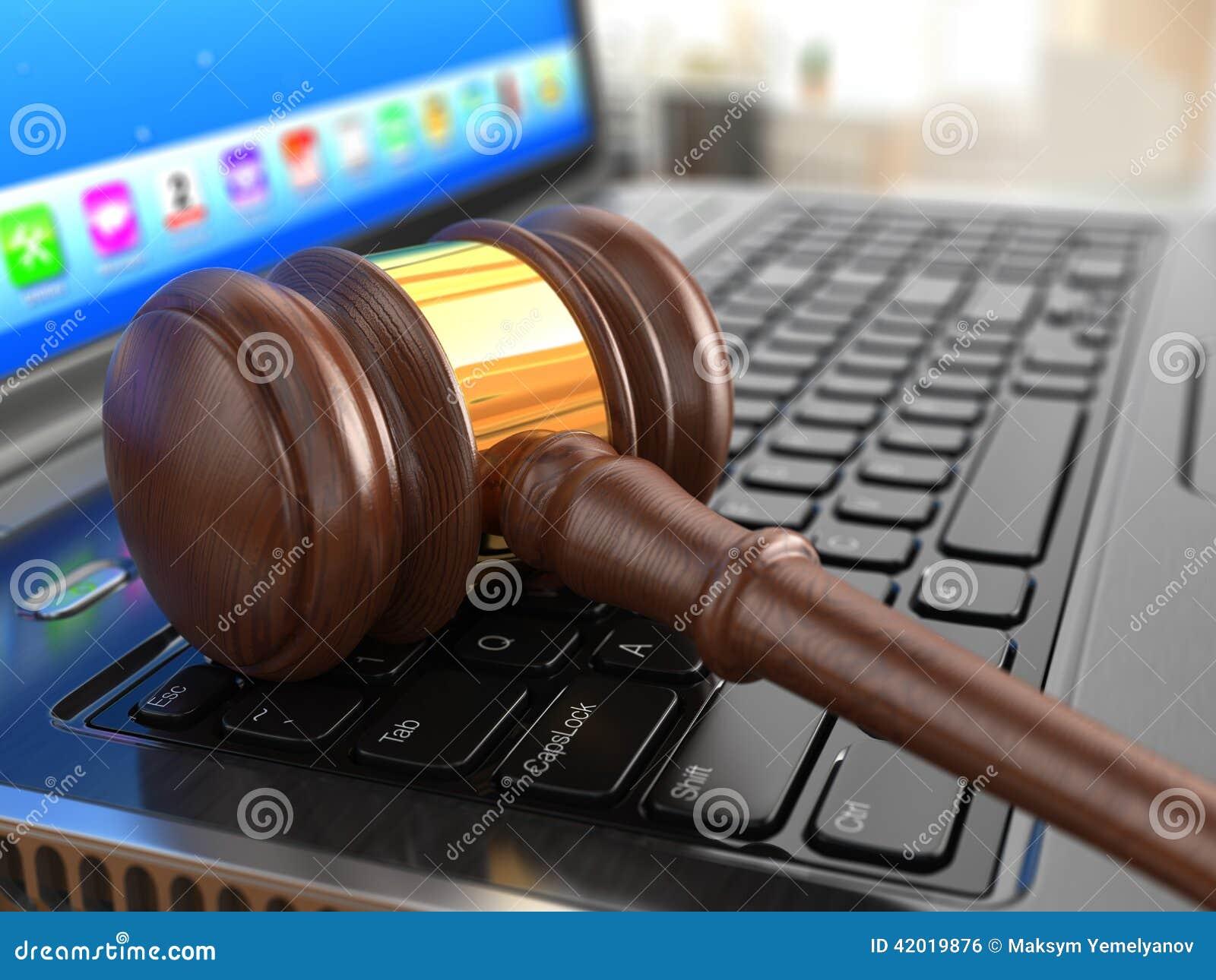 online internet veiling hamer op laptop stock illustratie illustratie bestaande uit handel. Black Bedroom Furniture Sets. Home Design Ideas