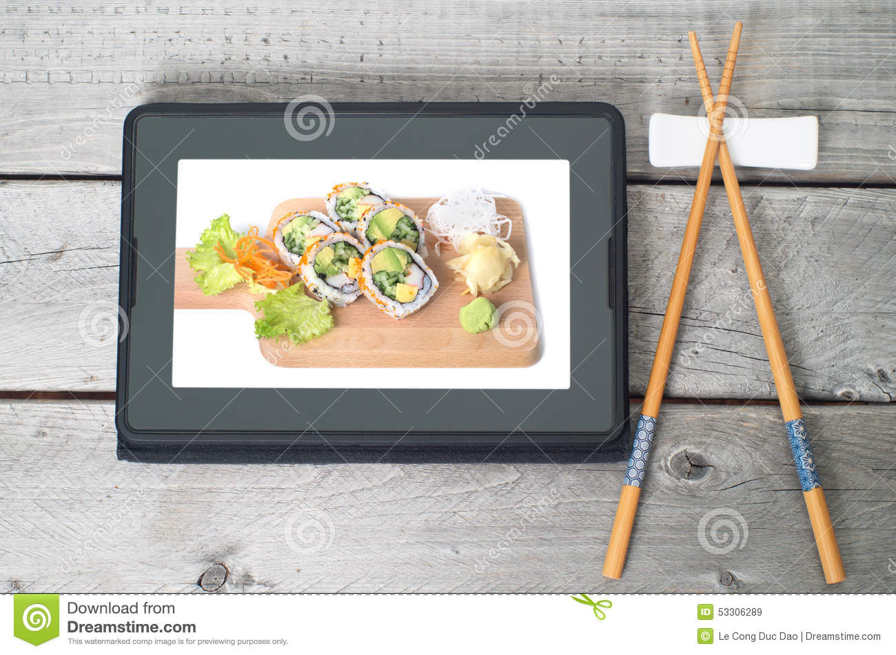 Online Japanese food delivery concept