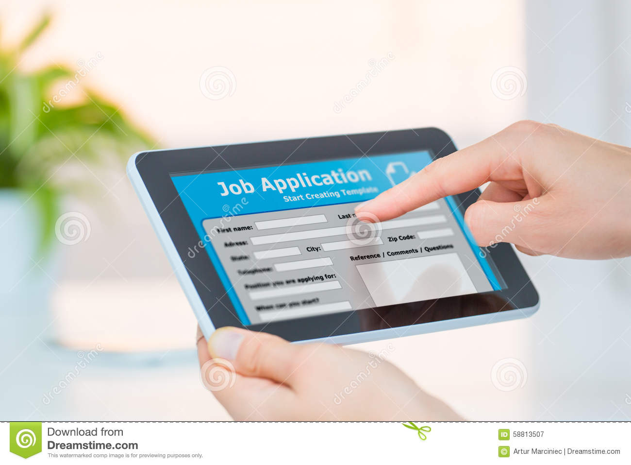 businessman filling online job application stock photo image online job searching royalty stock photography