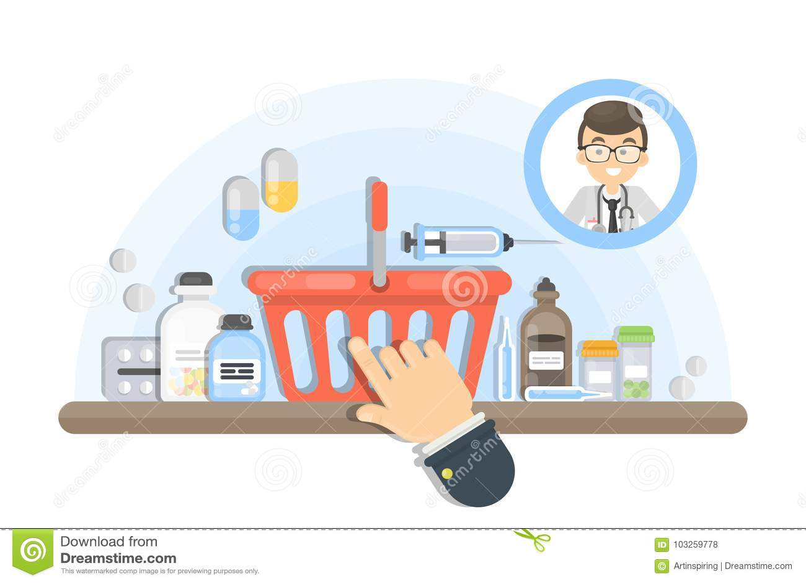 Online-köpande medicin
