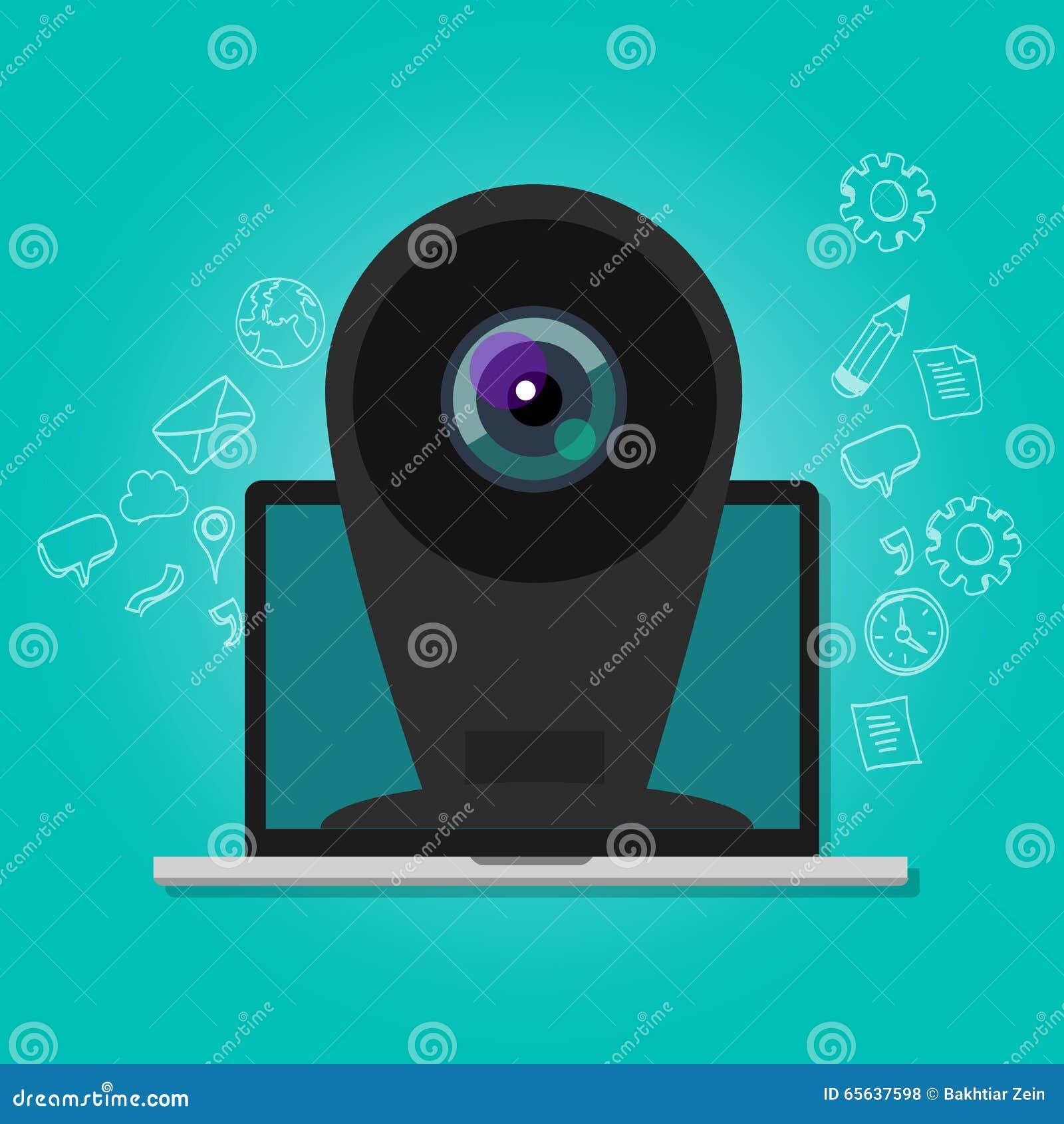 Online kamery kamery internetowej ochrony inwigilaci interneta laptop
