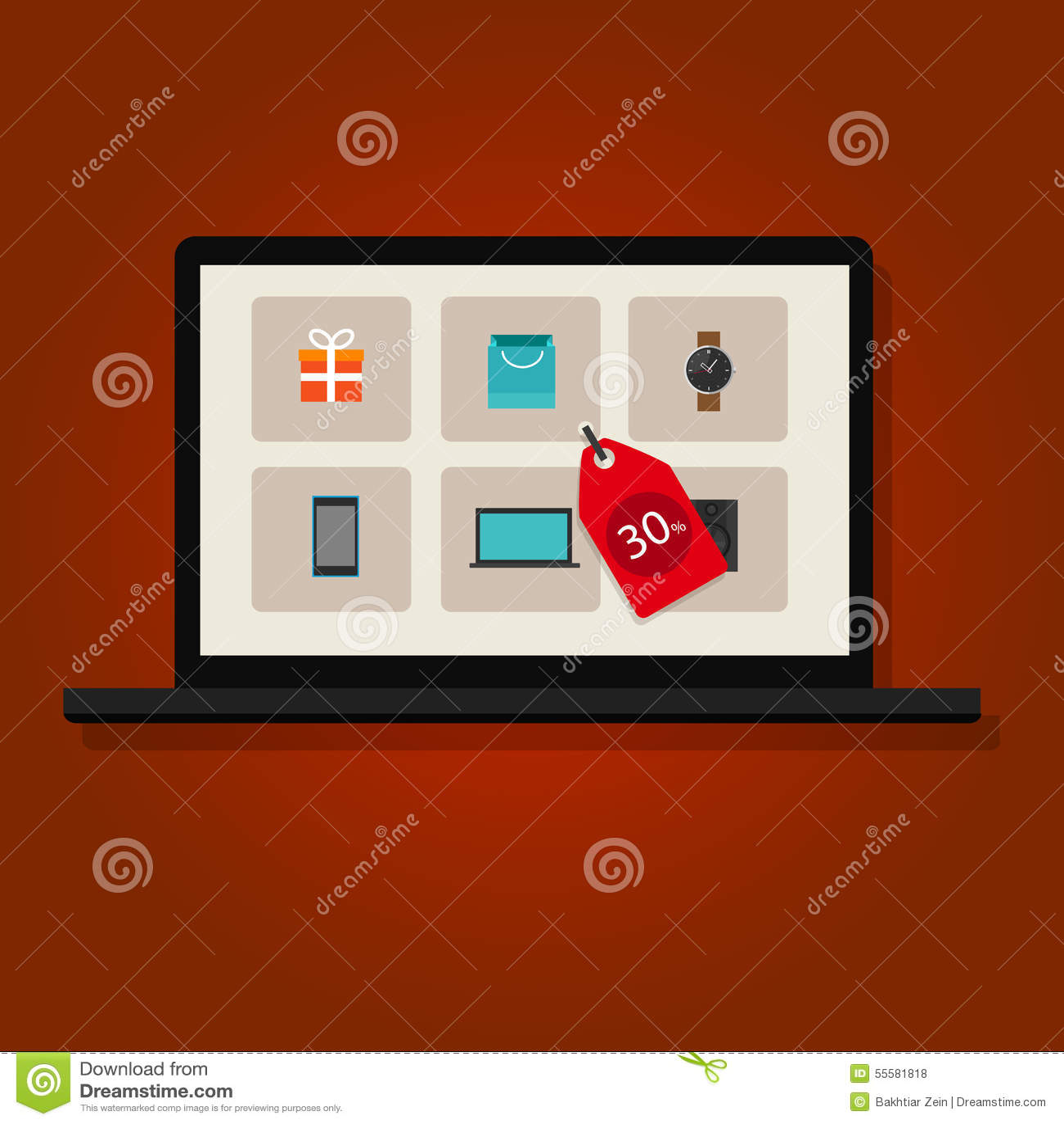 Online-kommers för marknadsföring för försäljningsrabattinternet