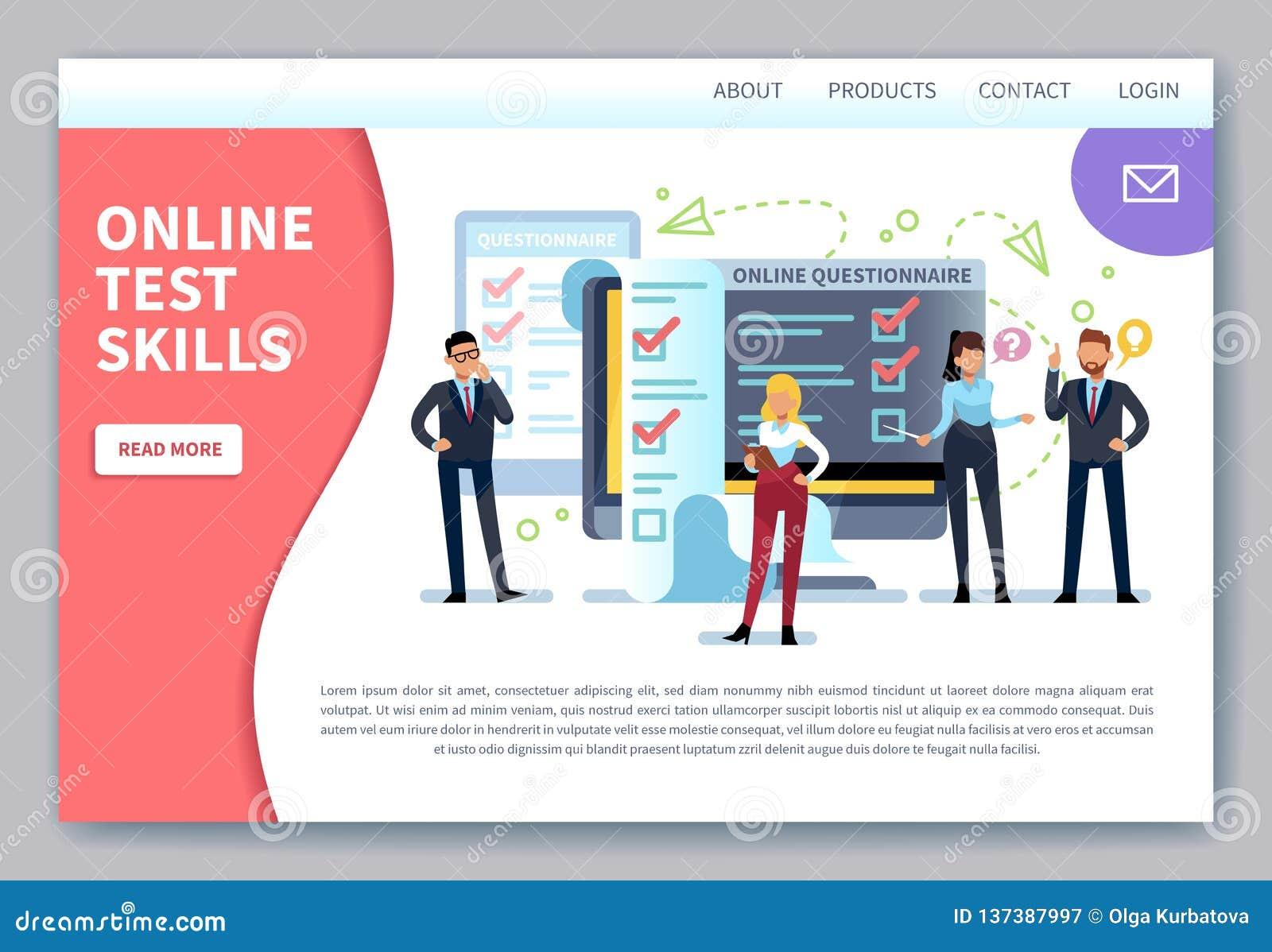 Online-landa sida för testa Internet som granskar, kontrollistaprovform Mobilt frågeformulär, kunder som röstar bedömning
