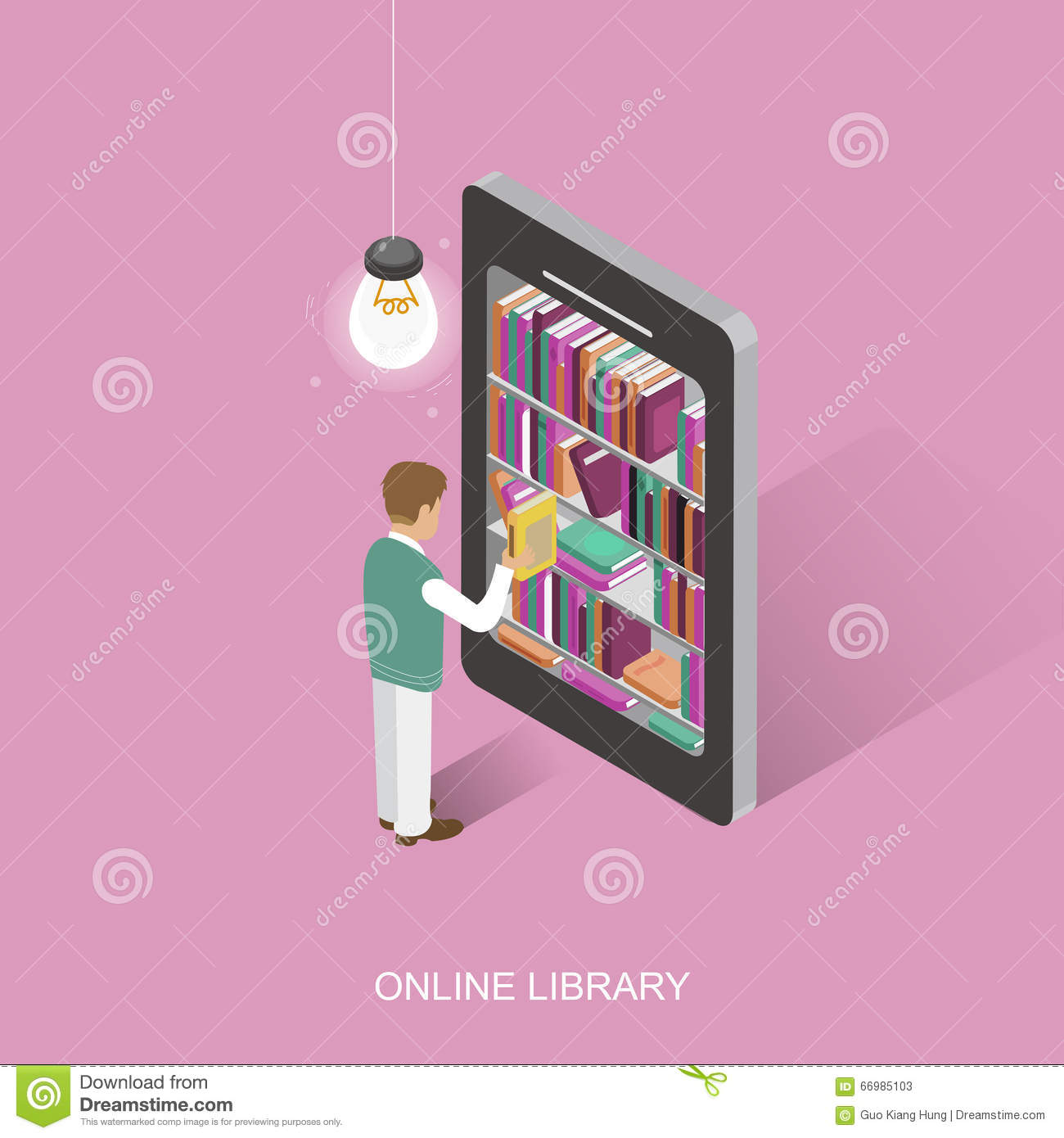 Online library cartoon vector 66985103 for Make a blueprint free online