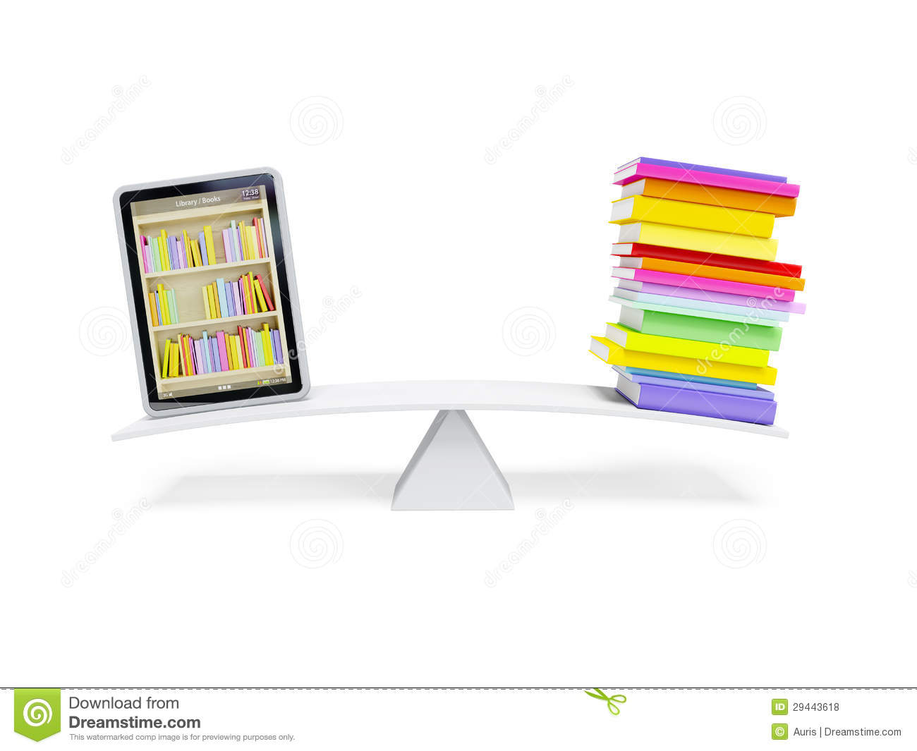 Online Library In The Tablet Royalty Free Stock Photos