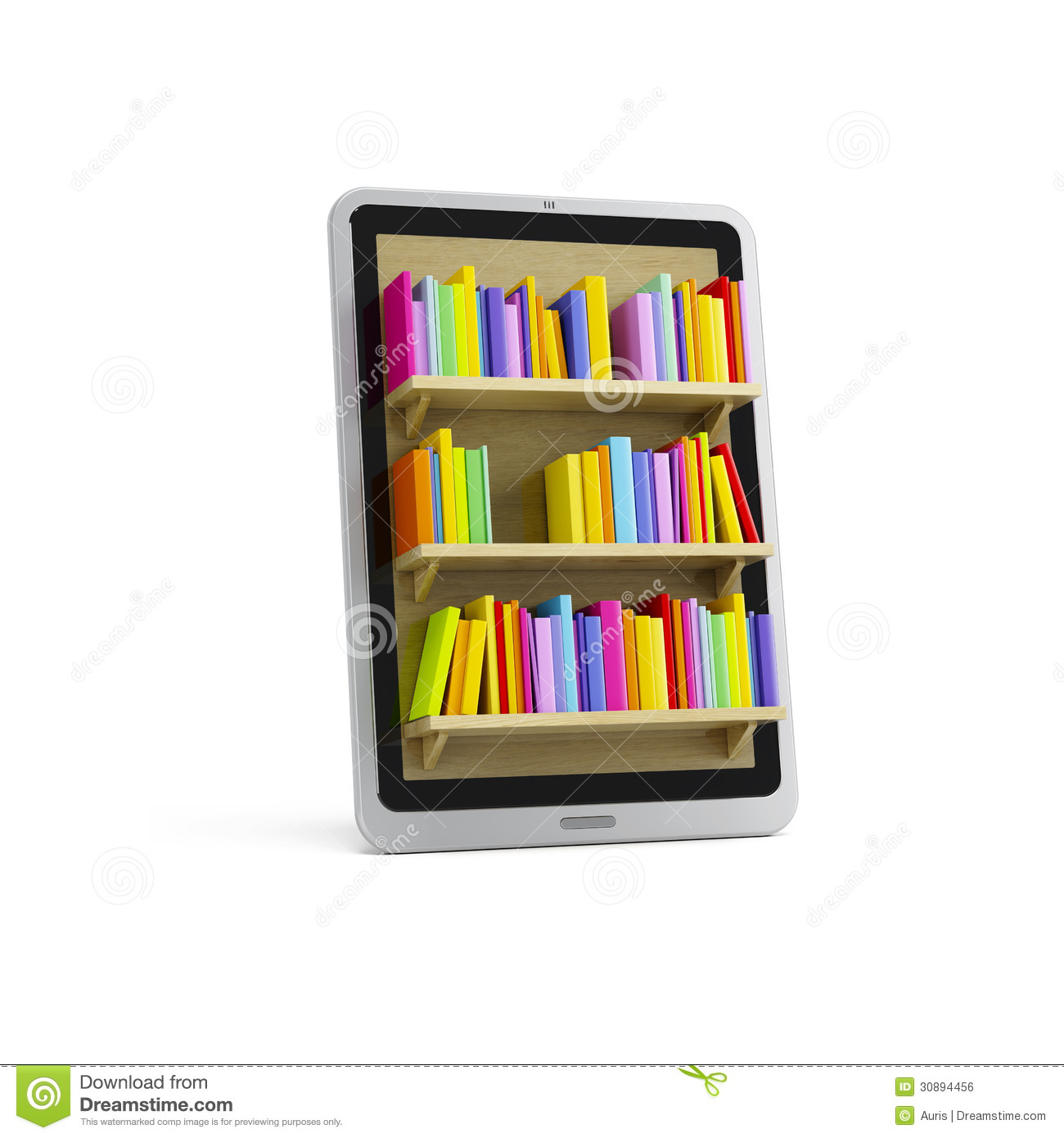 Online Library On The Tablet Royalty Free Stock Image