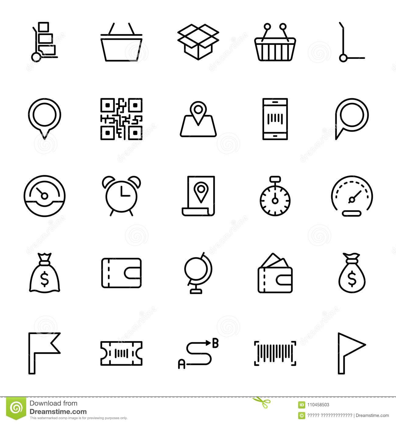 Online Market Flat Icon Stock Vector Illustration Of Link 110458503