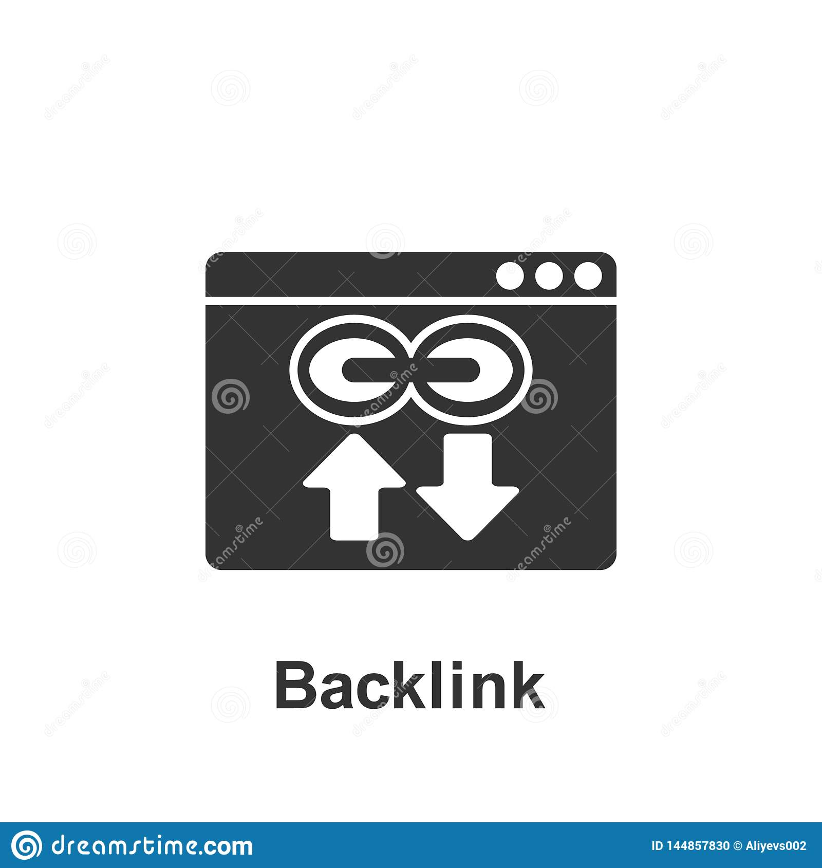 Online marketing, backlink icon. Element of online marketing icon. Premium quality graphic design icon. Signs and symbols