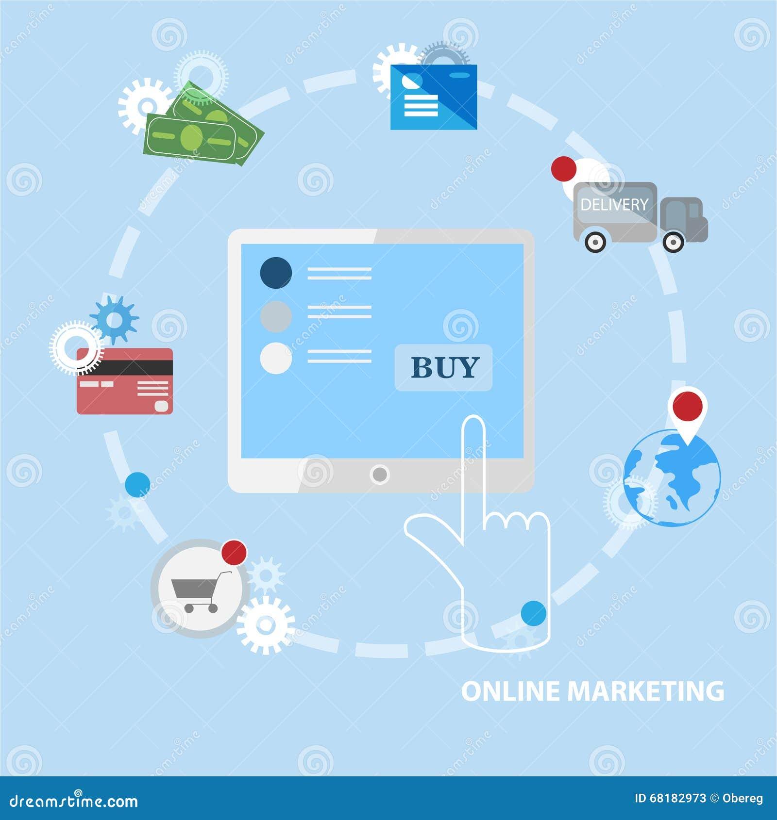 Online marketing business card vector template stock vector online marketing business card vector template colourmoves