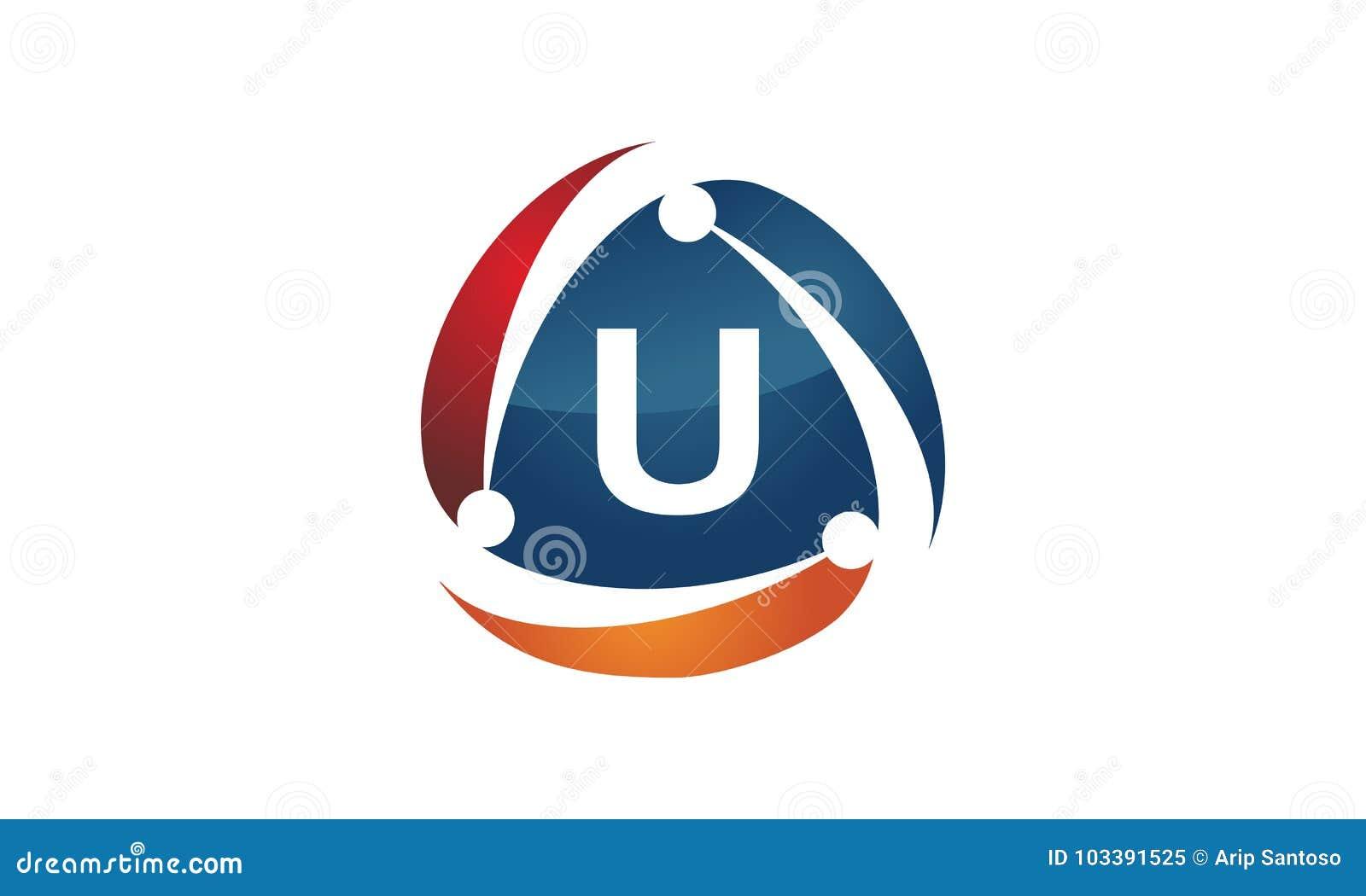 online marketing business distribution technology letter u stock