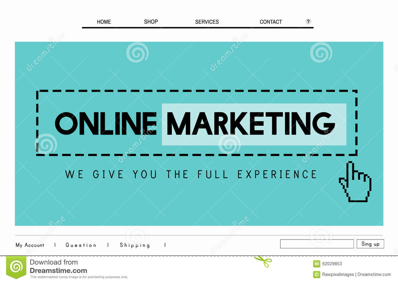 Marketing plan for online business example