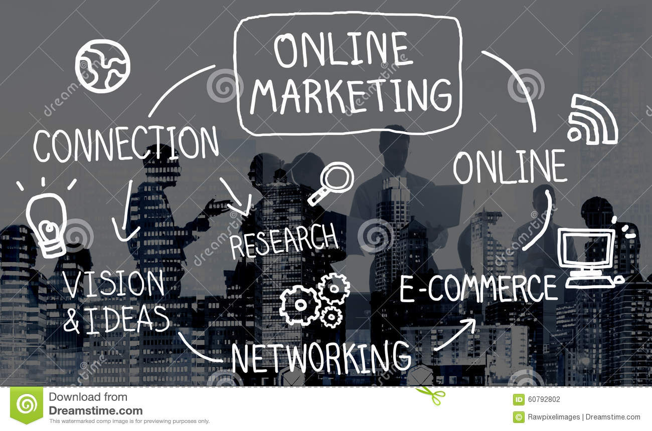 online marketing digital networking strategy vision concept stock online marketing digital networking strategy vision concept