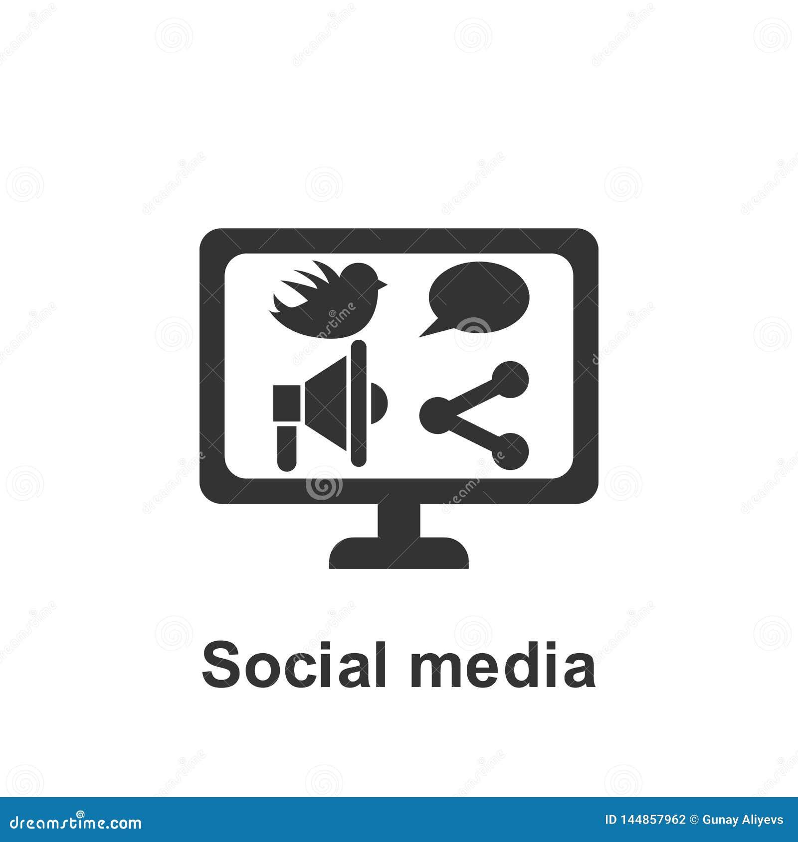 Online-marknadsf?ring, social massmediasymbol Best?ndsdel av den online-marknadsf?ra symbolen H?gv?rdig kvalitets- symbol f?r gra