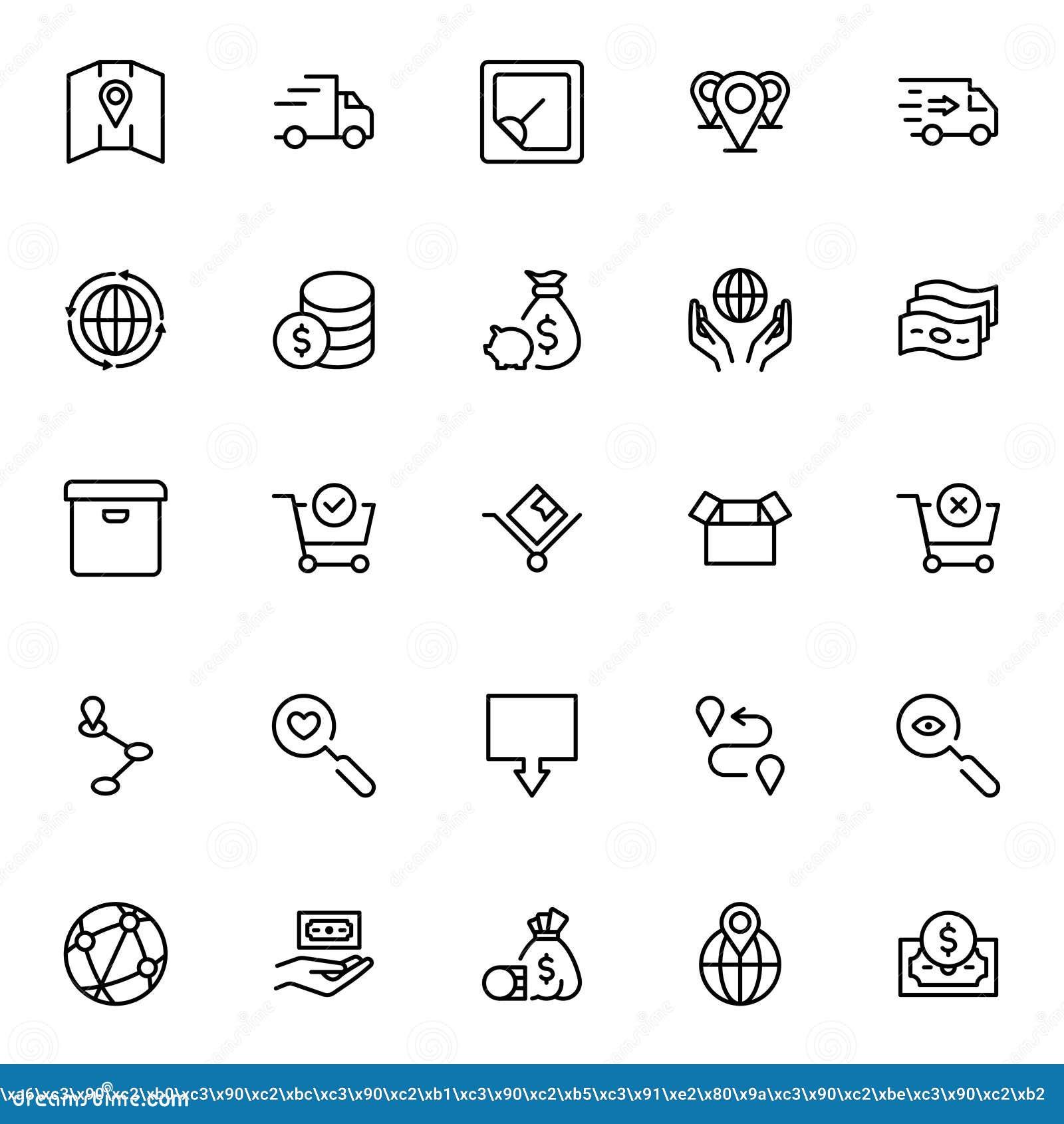 Online-marknadslägenhetsymbol