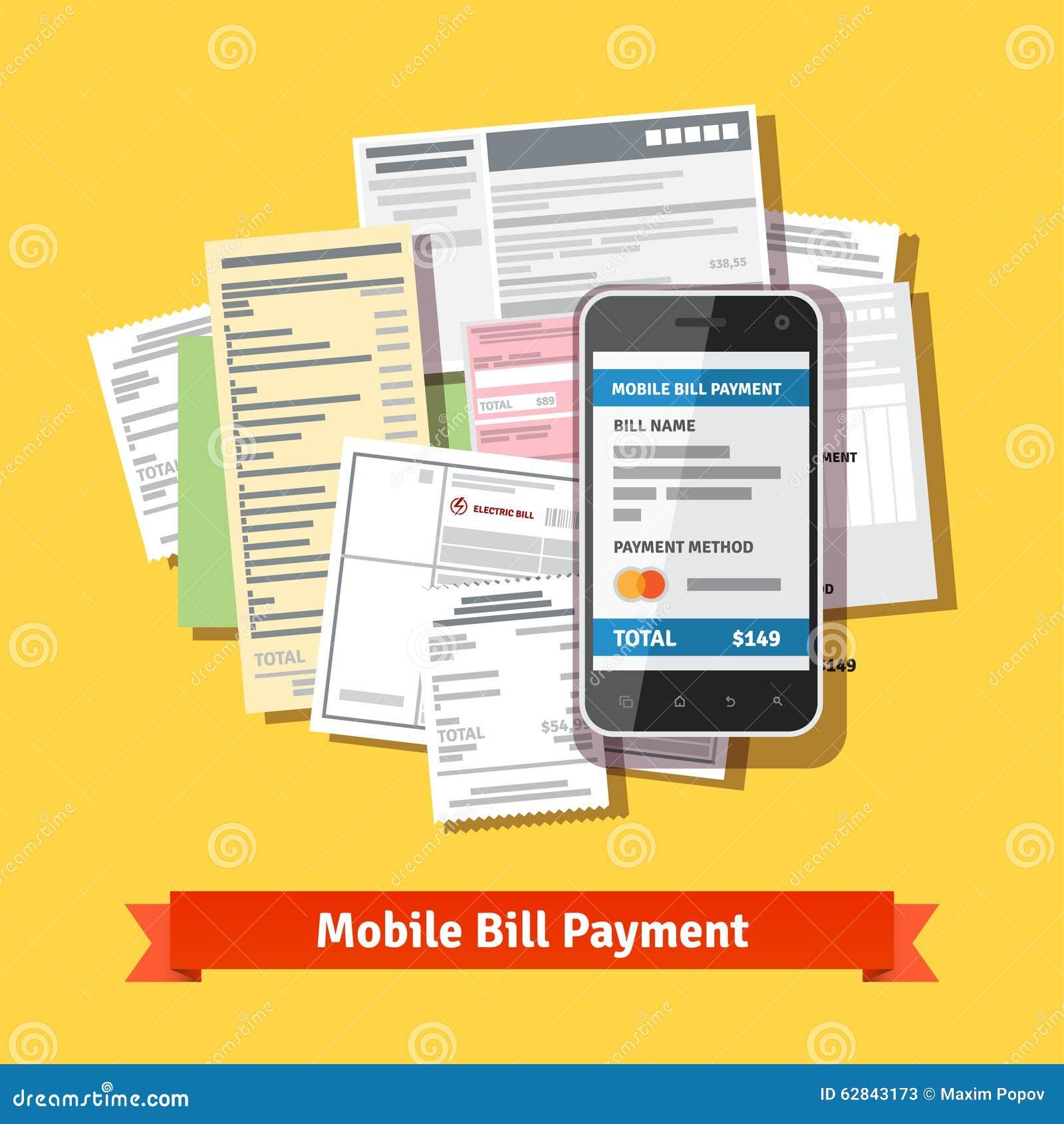 Online-mobil smartphoneräkningbetalning