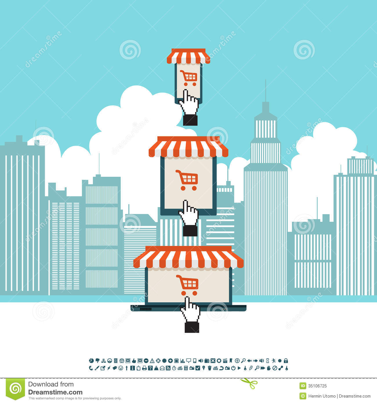 Online mobile electronic store royalty free stock photo for Shop on line mobili