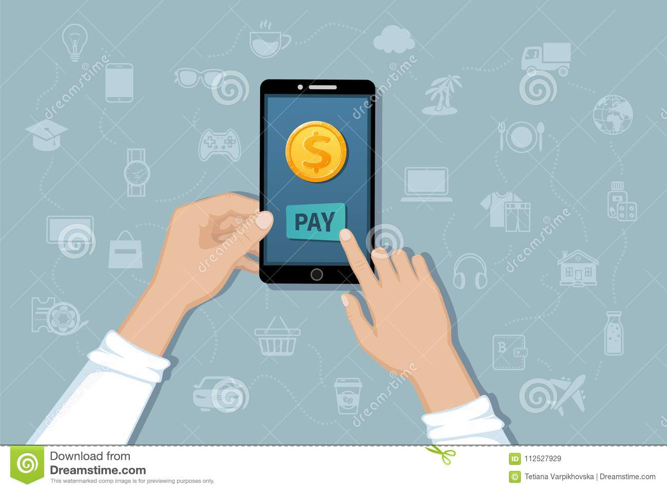 Online Mobile Payment, Money Transfer Service  Pay For Goods And