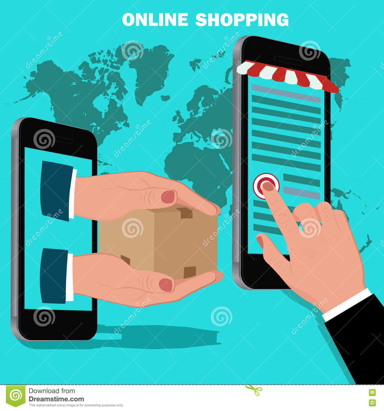 Online mobile shopping in japan