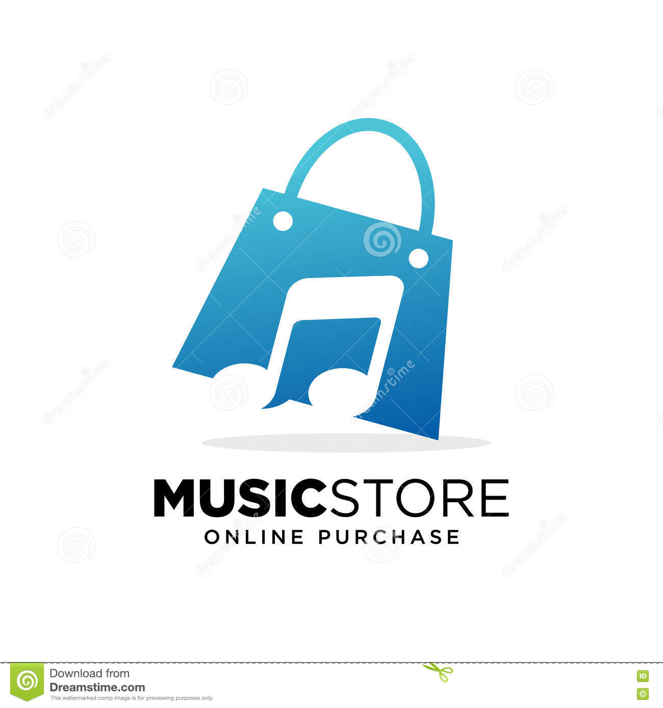 Online Music Store  Audio Technology  Vector Illustration