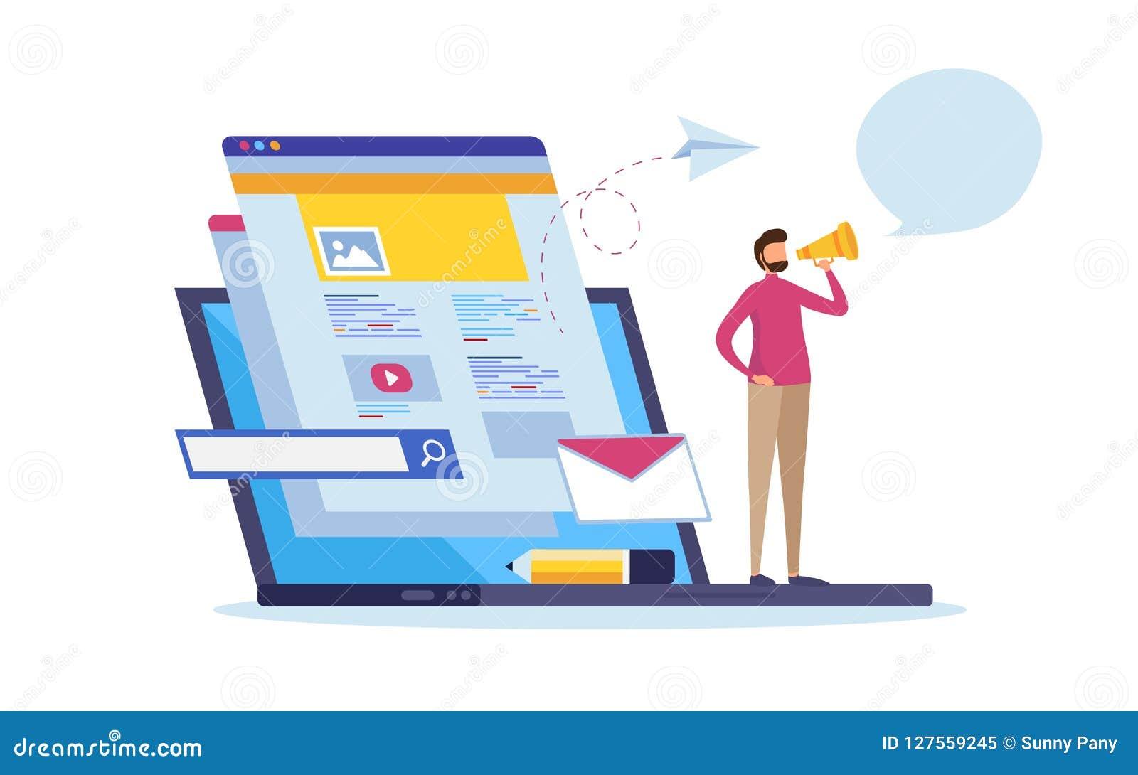 Online-nyheterna, information om webbsida, socialt massmedia Multimediakommunikation Uppdateringinnehåll