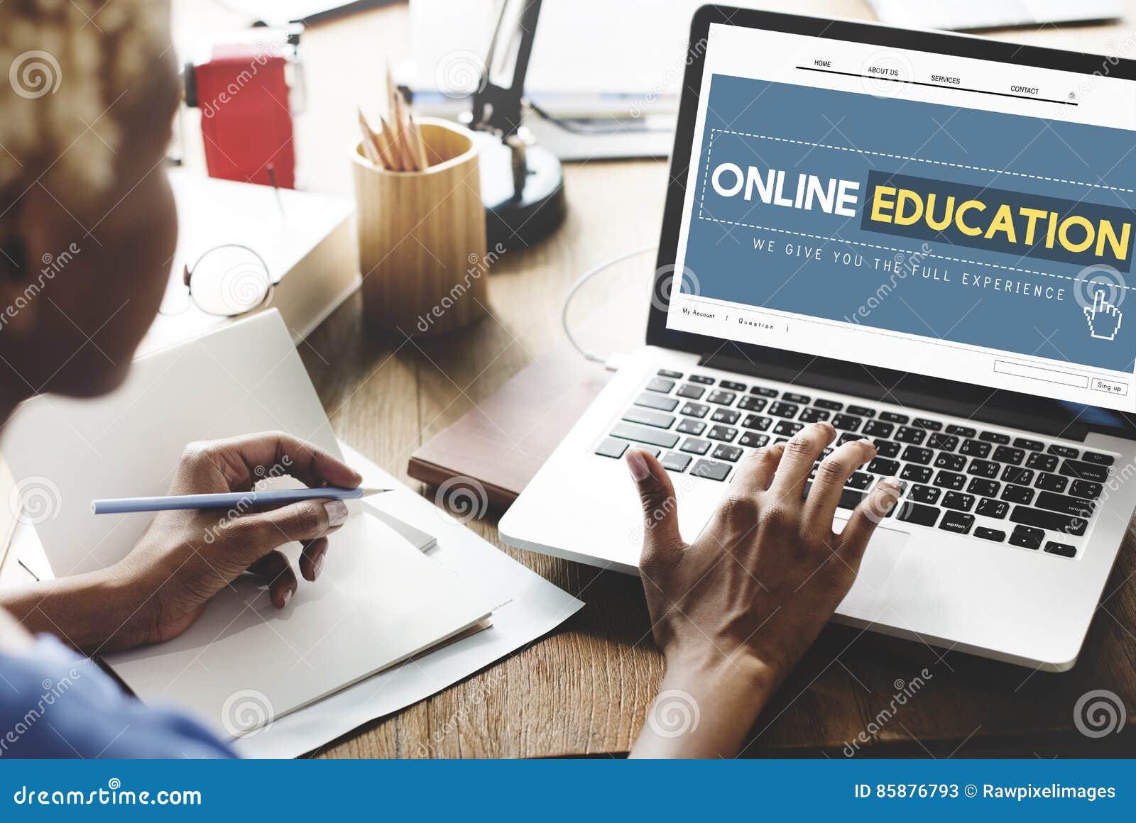 Online Onderwijshomepage e-Lerende Technologieconcept