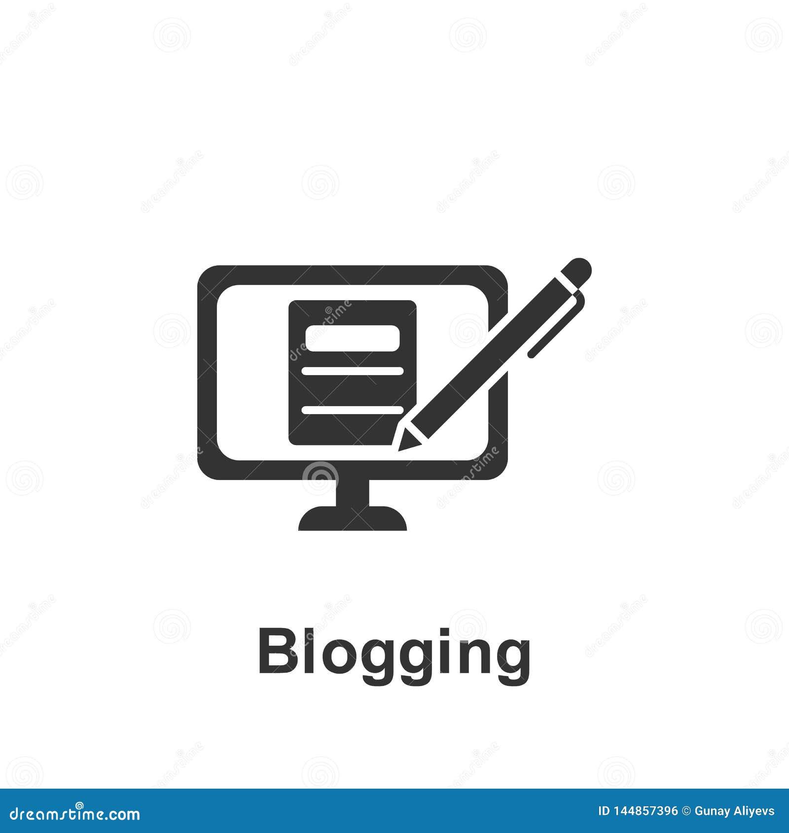 Online op de markt brengend, blogging pictogram Element van online marketing pictogram Grafisch het ontwerppictogram van de premi