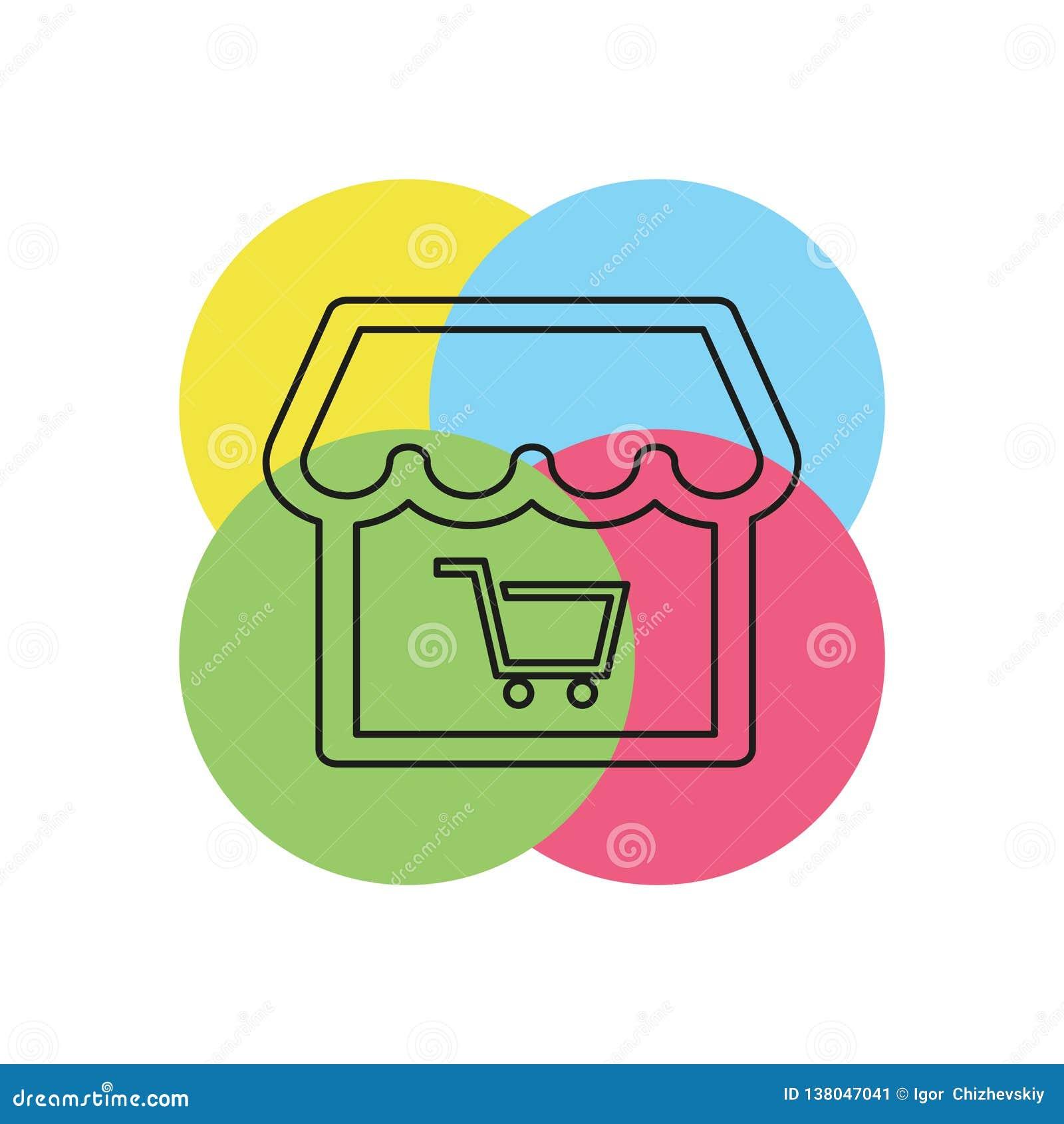 Online Opslagpictogram De illustratie van het embleemelement