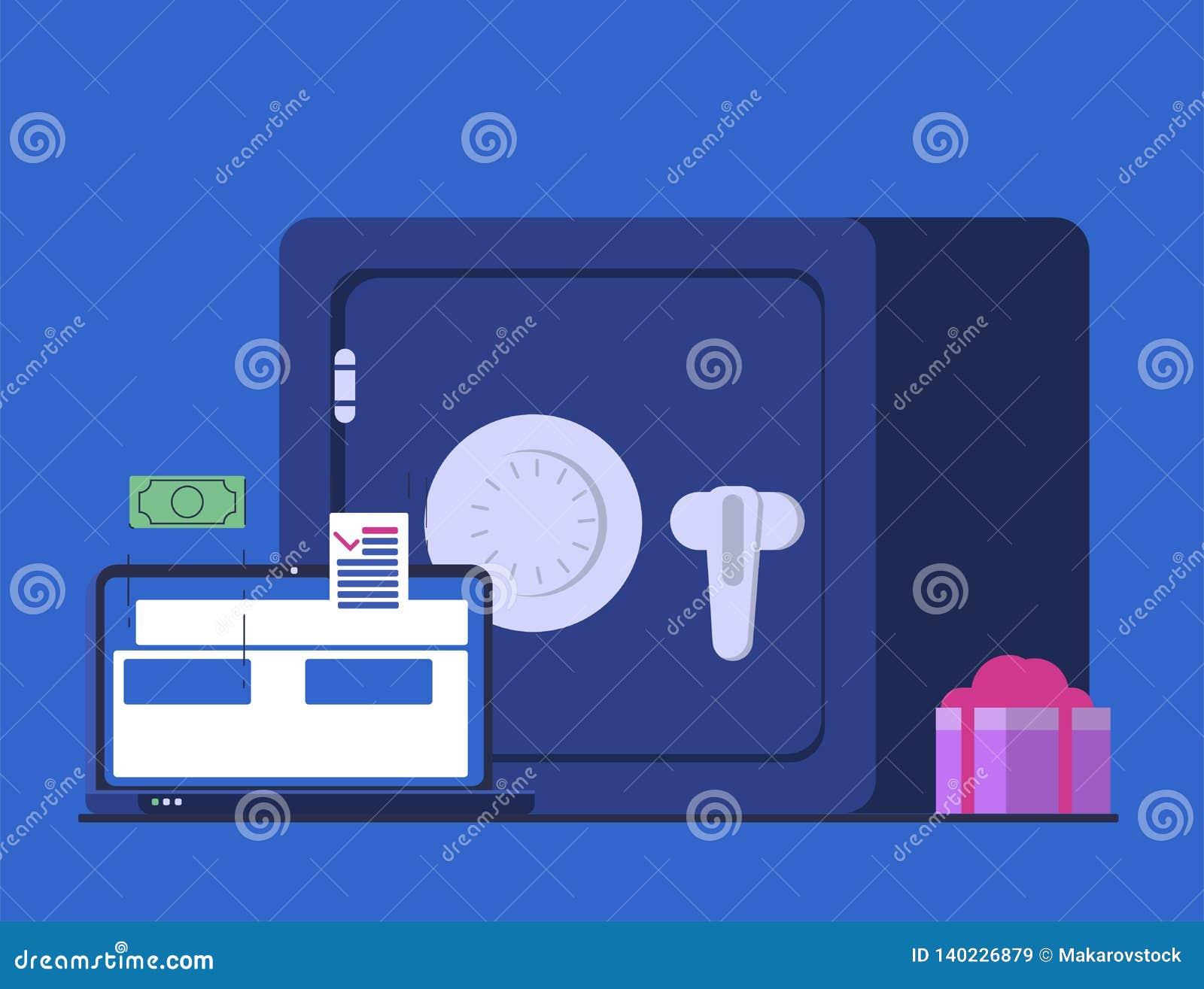 Online-packa ihop och att överföra pengar