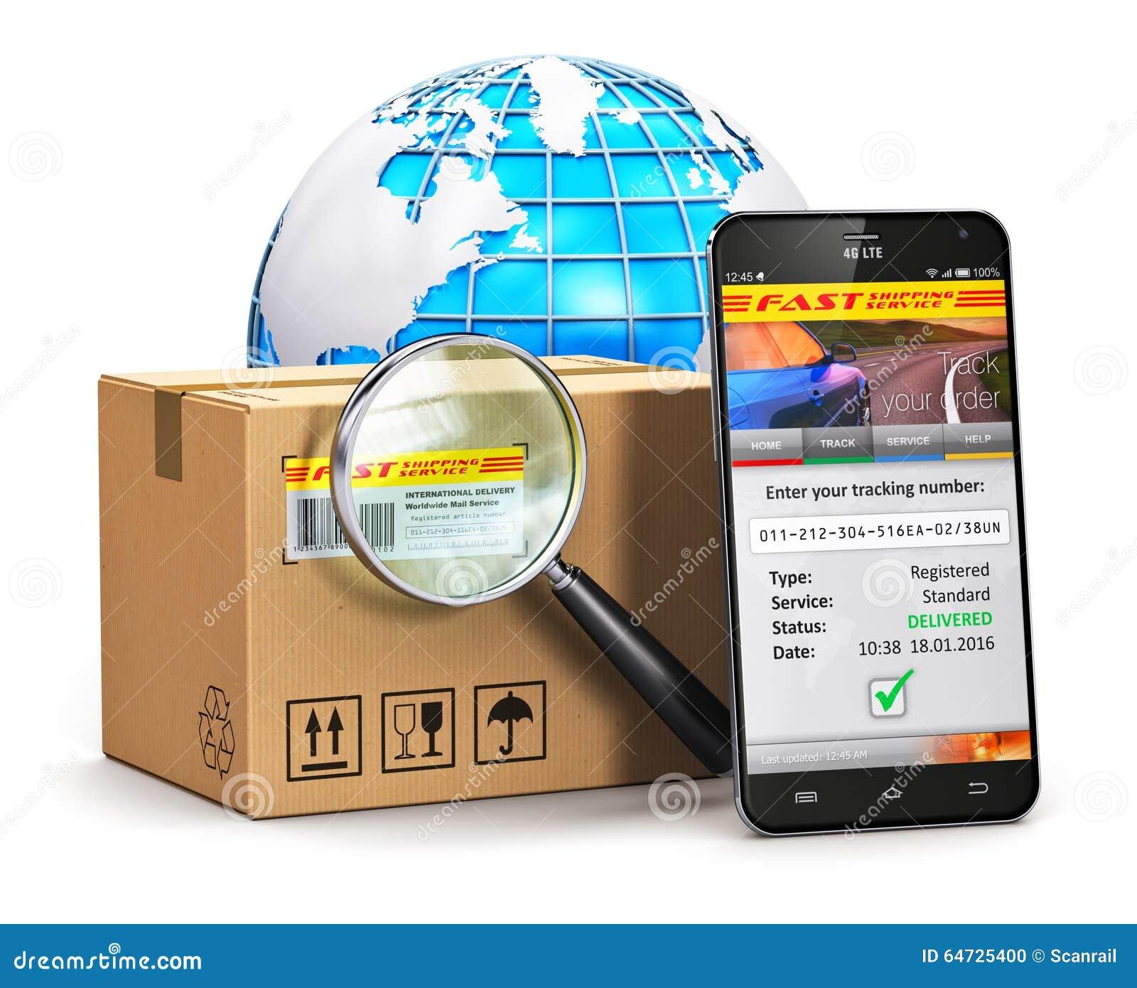 online parcel tracking concept stock illustration illustration of