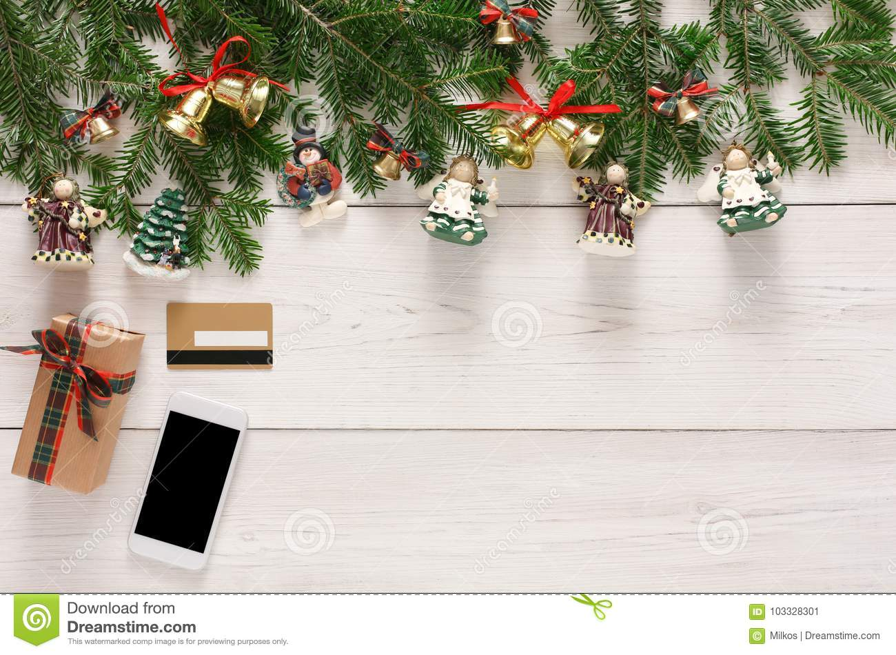 download online paying for christmas decorations background stock image image of stylish mobile